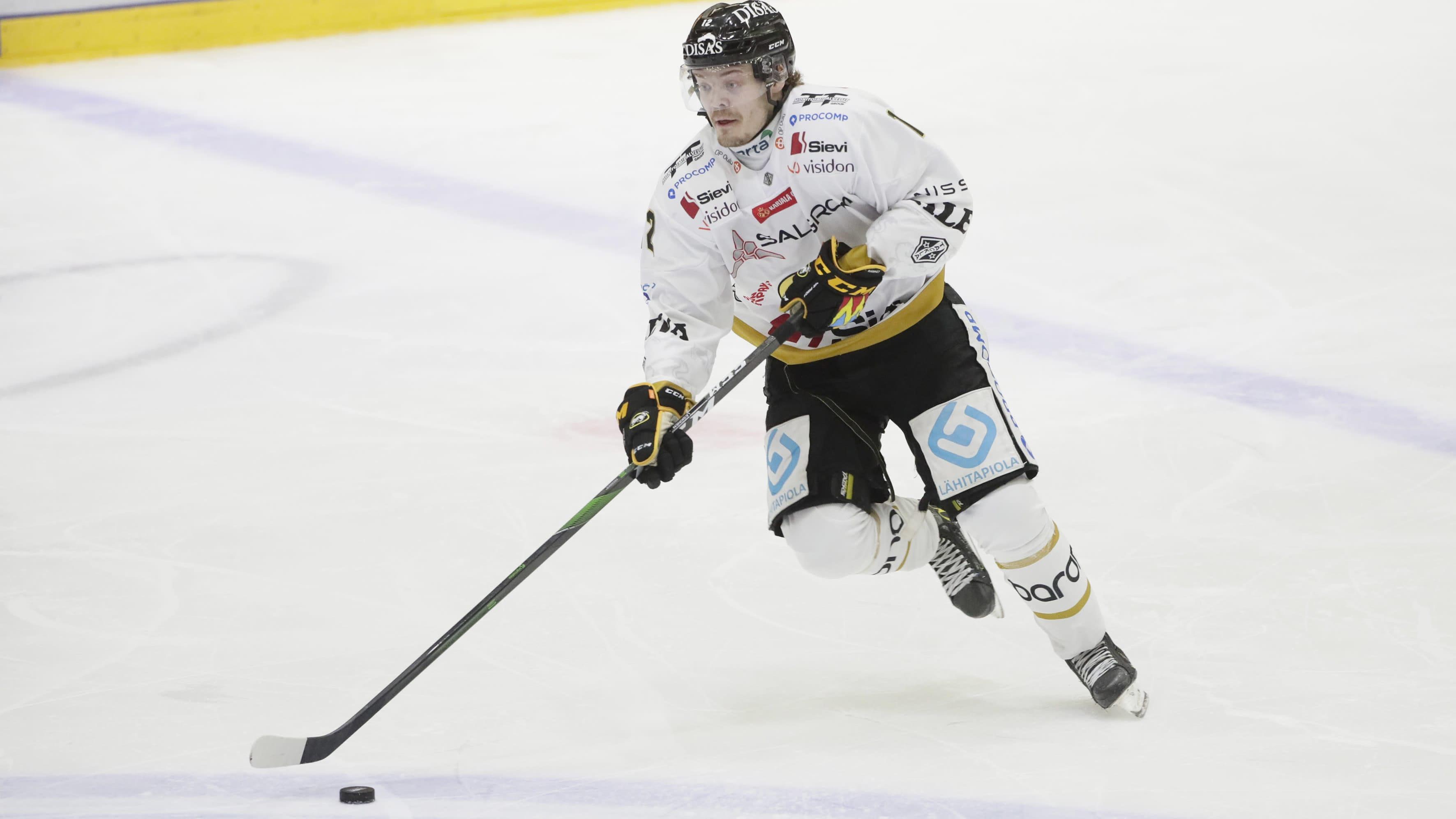 Kärppien Ville Leskinen on SM-liigan pistepörssissä viidentenä tehoin 5+7=12.