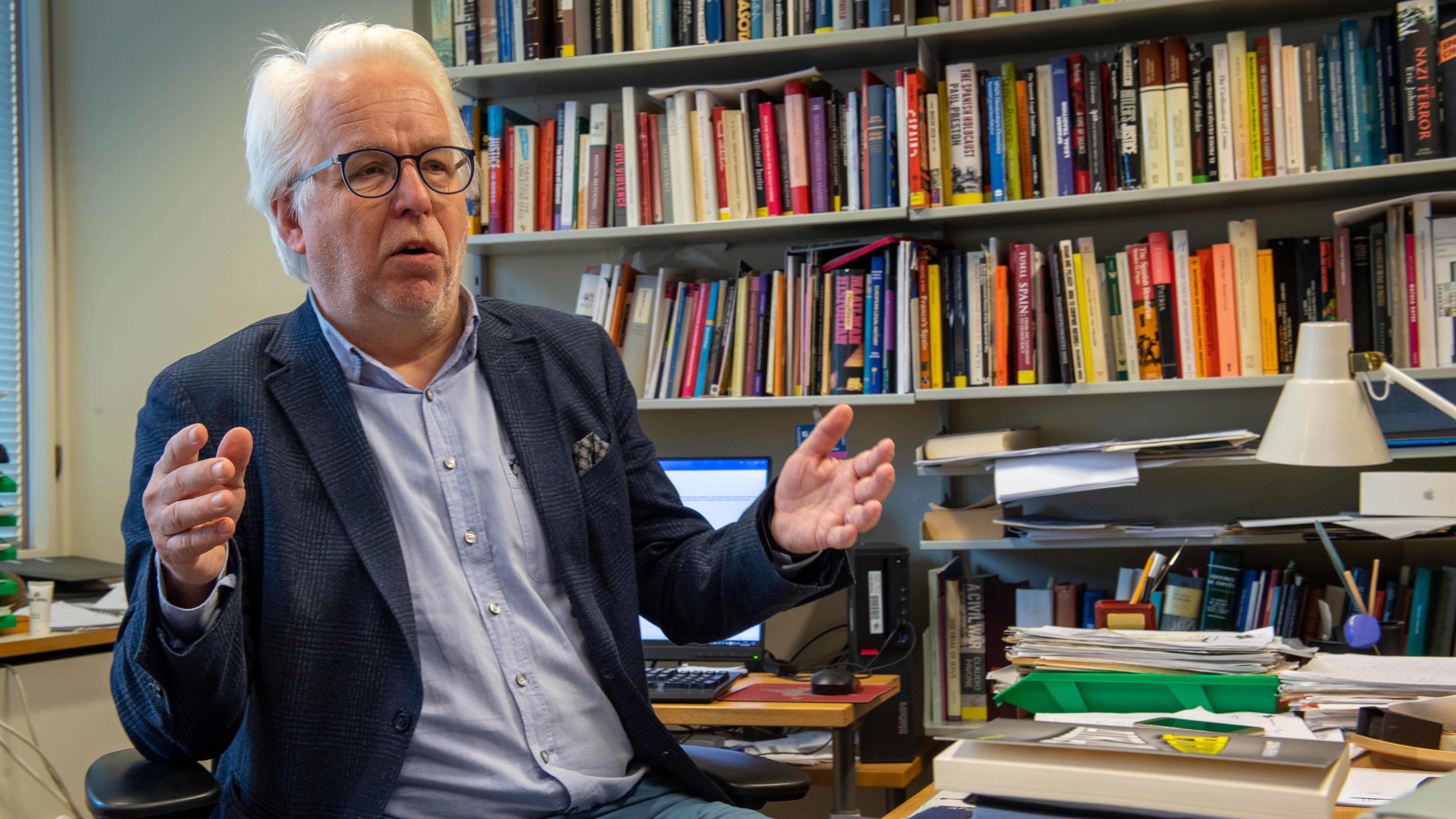 Oikeushistorian ja roomalaisen oikeuden professori Jukka Kekkonen Helsingin yliopistossa.