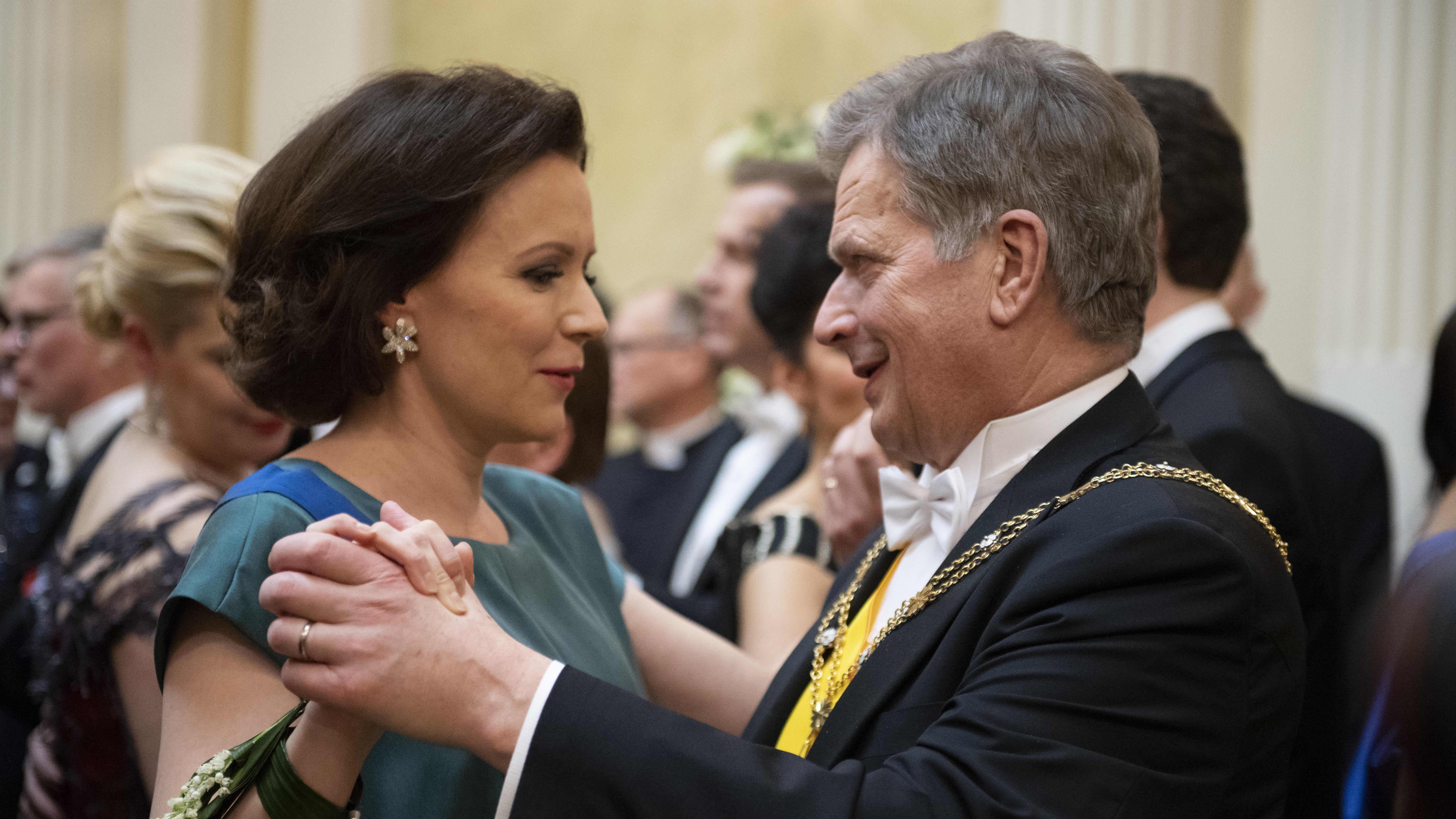 Tasavallan presidentin itsenäisyyspäivän juhlavastaanotto Presidentinlinnassa 2017.