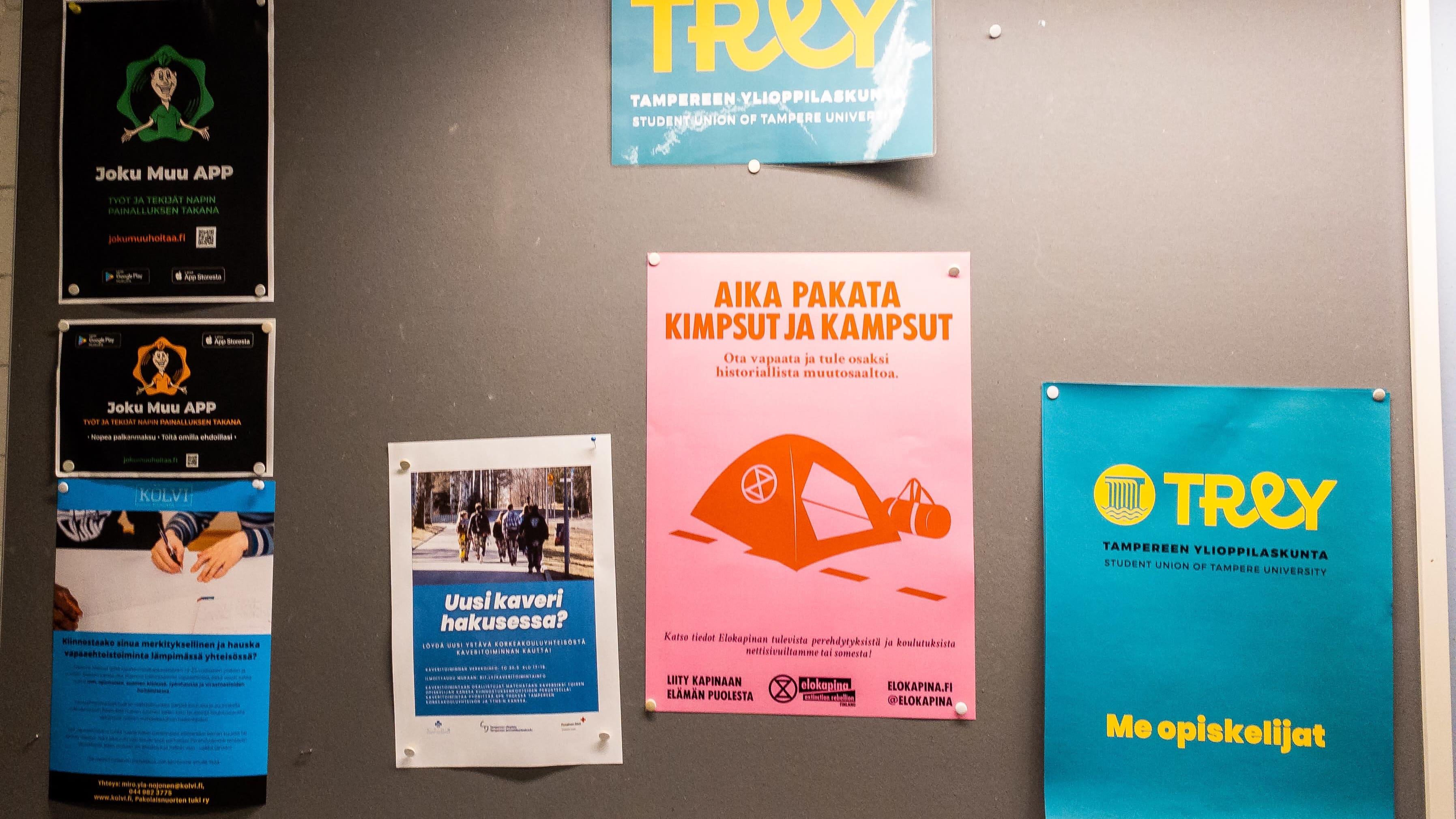 Tampereen yliopisto on poistanut keskustakampuksensa ilmoitustauluilta ympäristöliike Elokapinan julisteita.