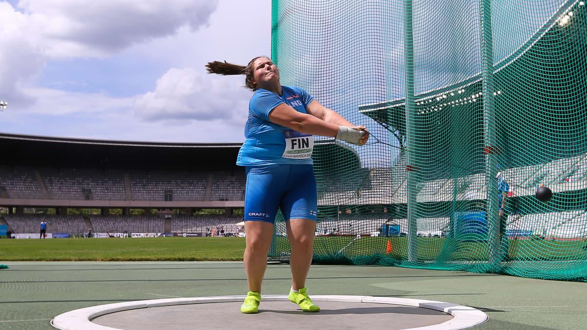 Silja Kosonen heitti Euroopan mestaruuteen tuloksella 71,06