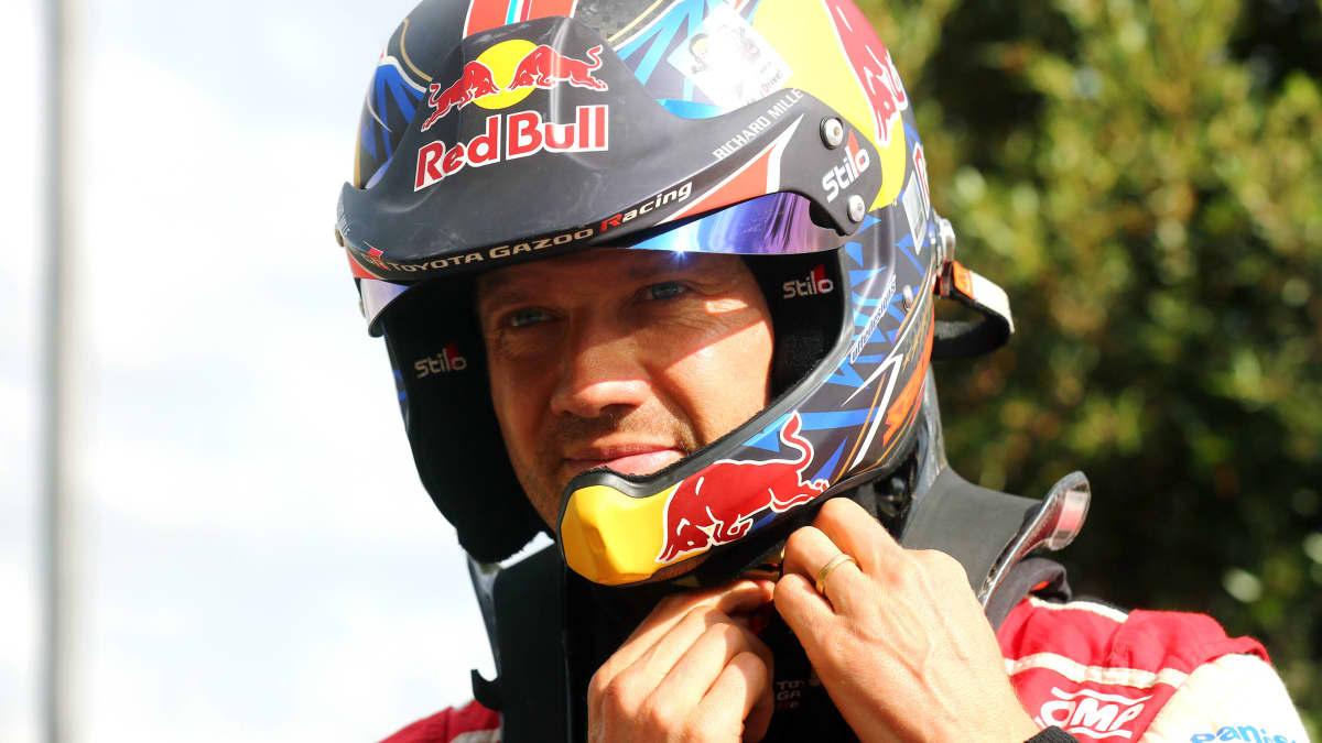 Toyotan Sebastien Ogier Sardinian MM-rallissa 2021.
