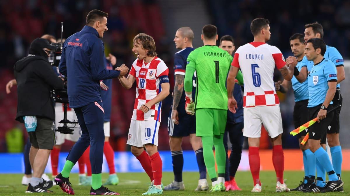 Kroatia juhlii otteluvoittoa