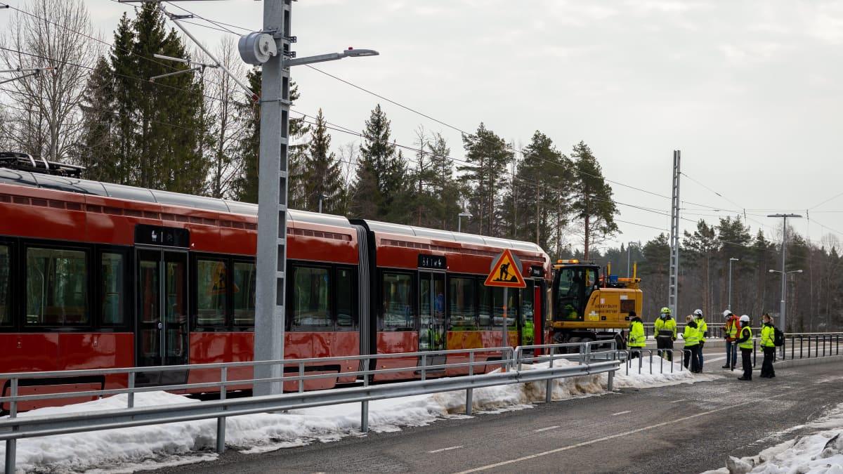 Tampereen ratikan pelastusharjoitus