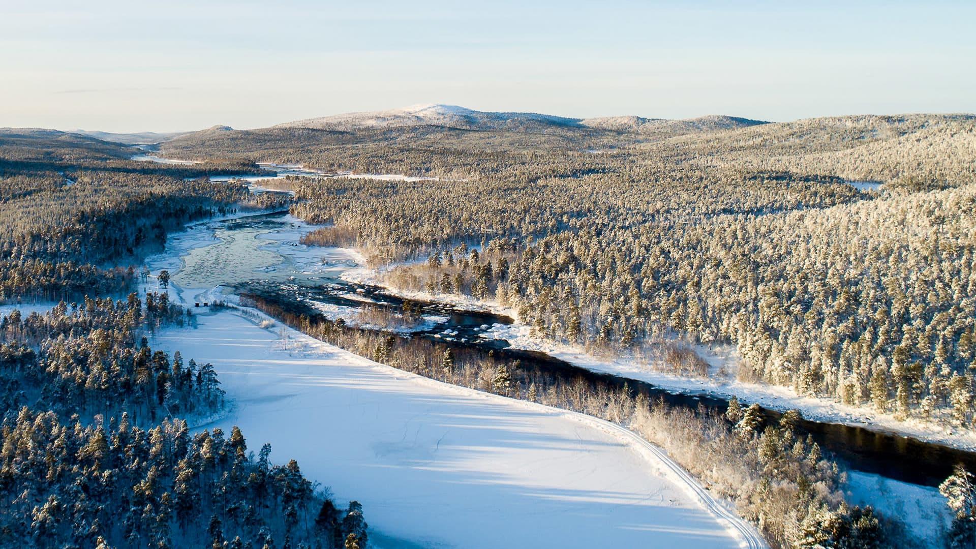 Juutuanjoki lokakuun lopussa 2019.