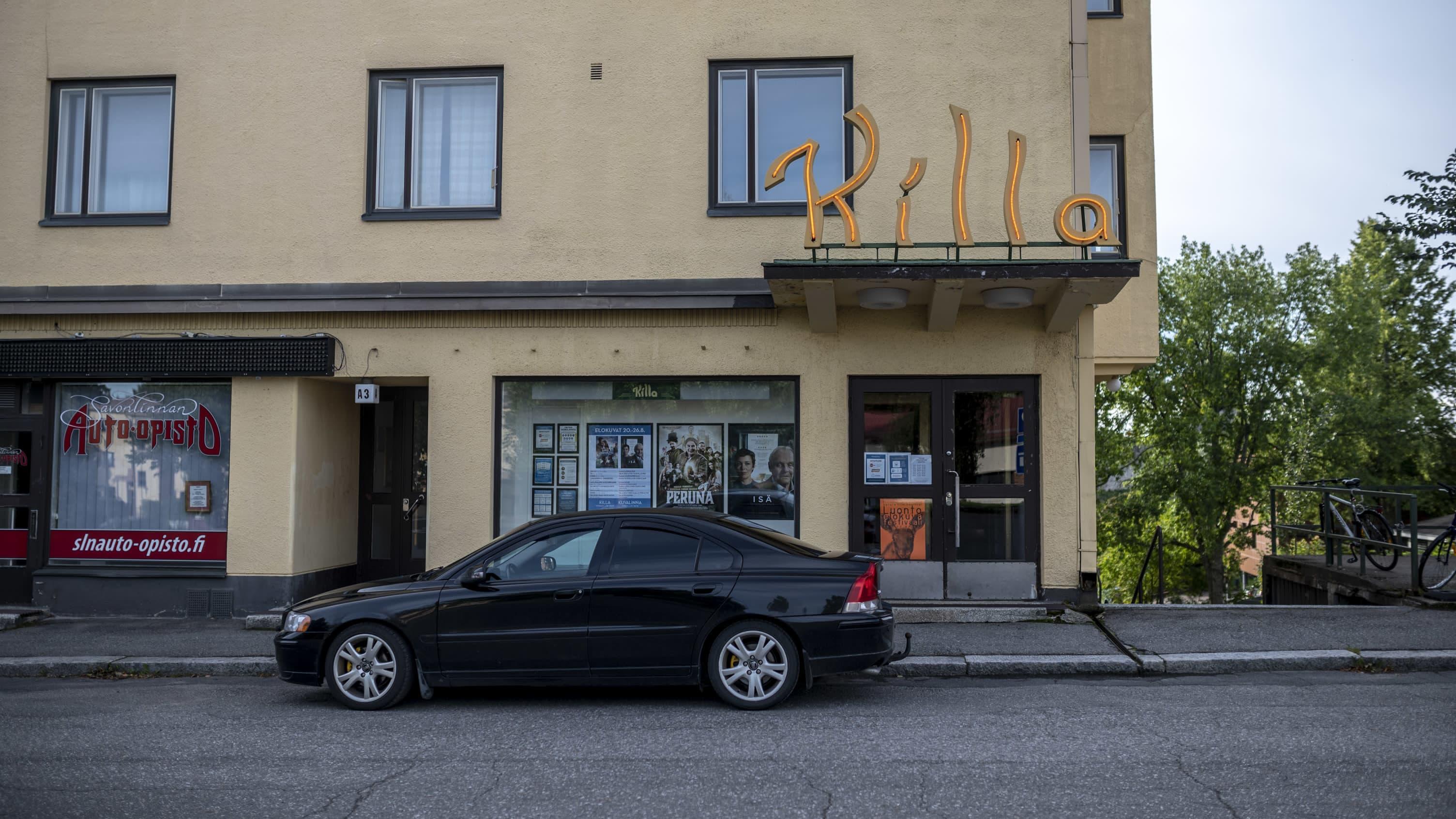 Elokuvateatteri Killan julkisivu Savonlinnassa