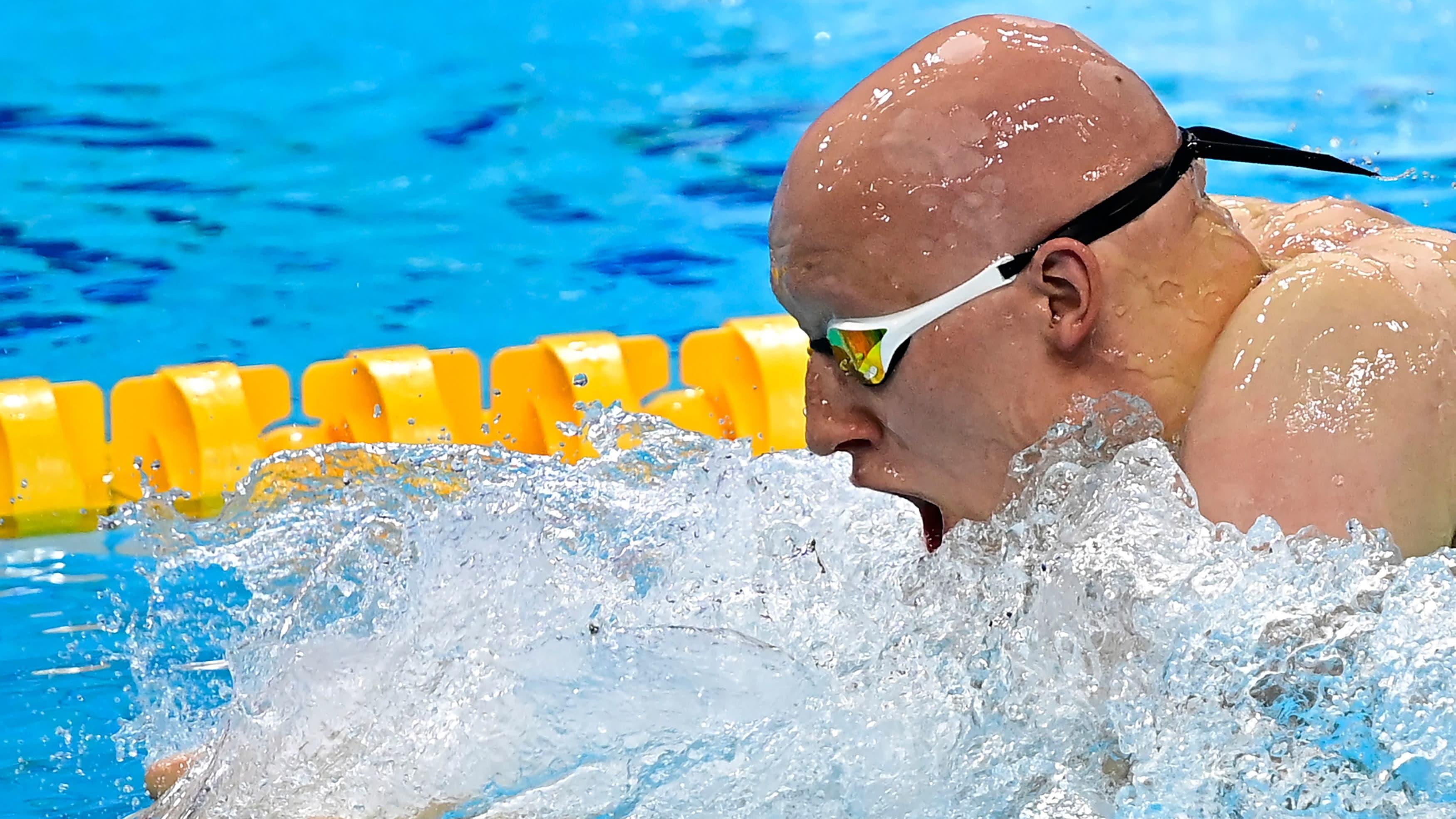 Matti Mattsson kuvattuna Budapestin EM-uinneissa 2021.