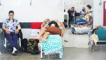 Potilaita brasilialaisessa sairaalassa maaliskuussa 2021.