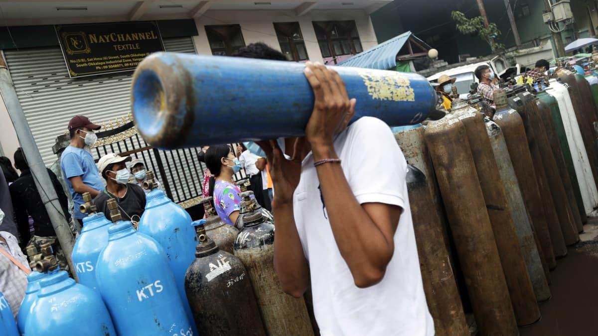 Myanmarista tuli Kaakkois-Aasian koronakuolemien keskittymä