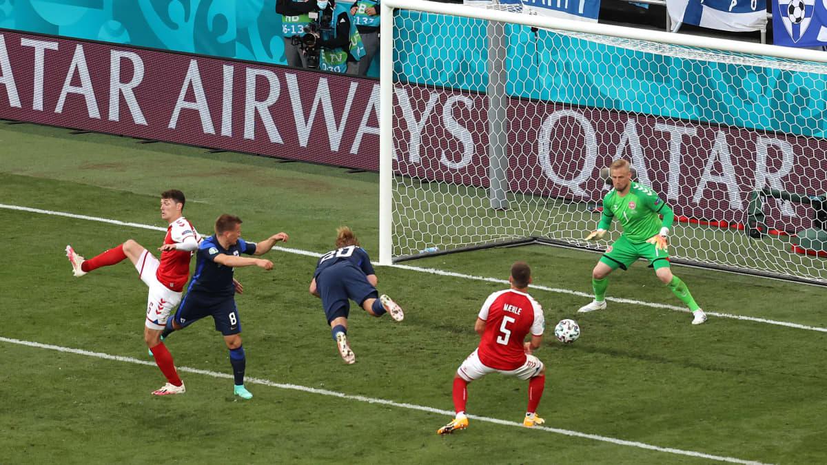 Suomi 1–0-johtoon Pohjanpalon puskulla