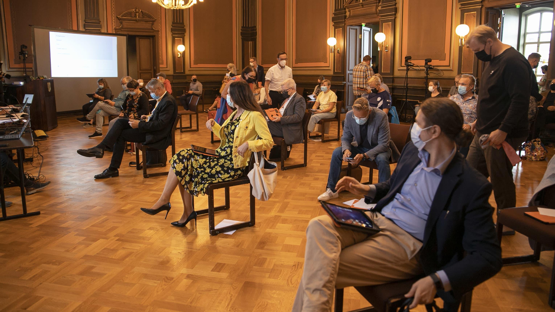 Uusi Hämeenlinnan kaupunginvaltuusto kokoontui.