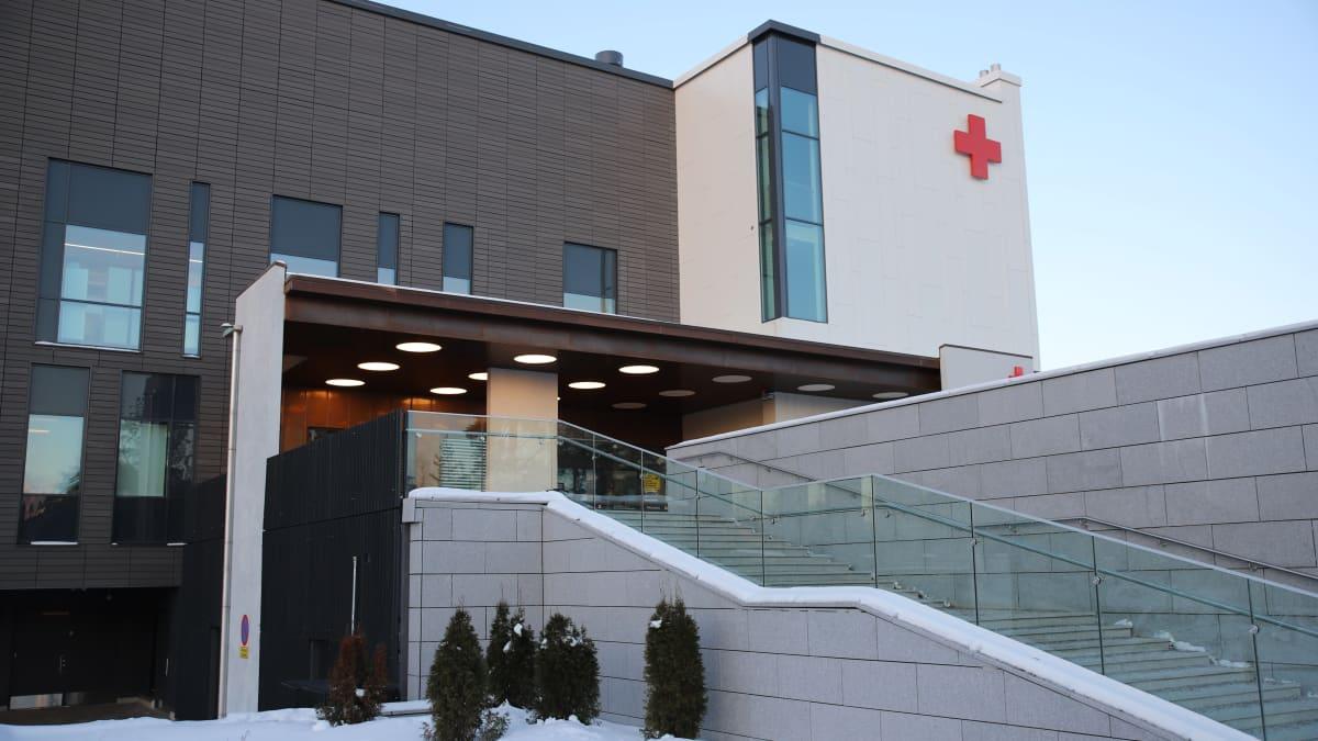 Kymenlaakson keskussairaala Kotkassa.
