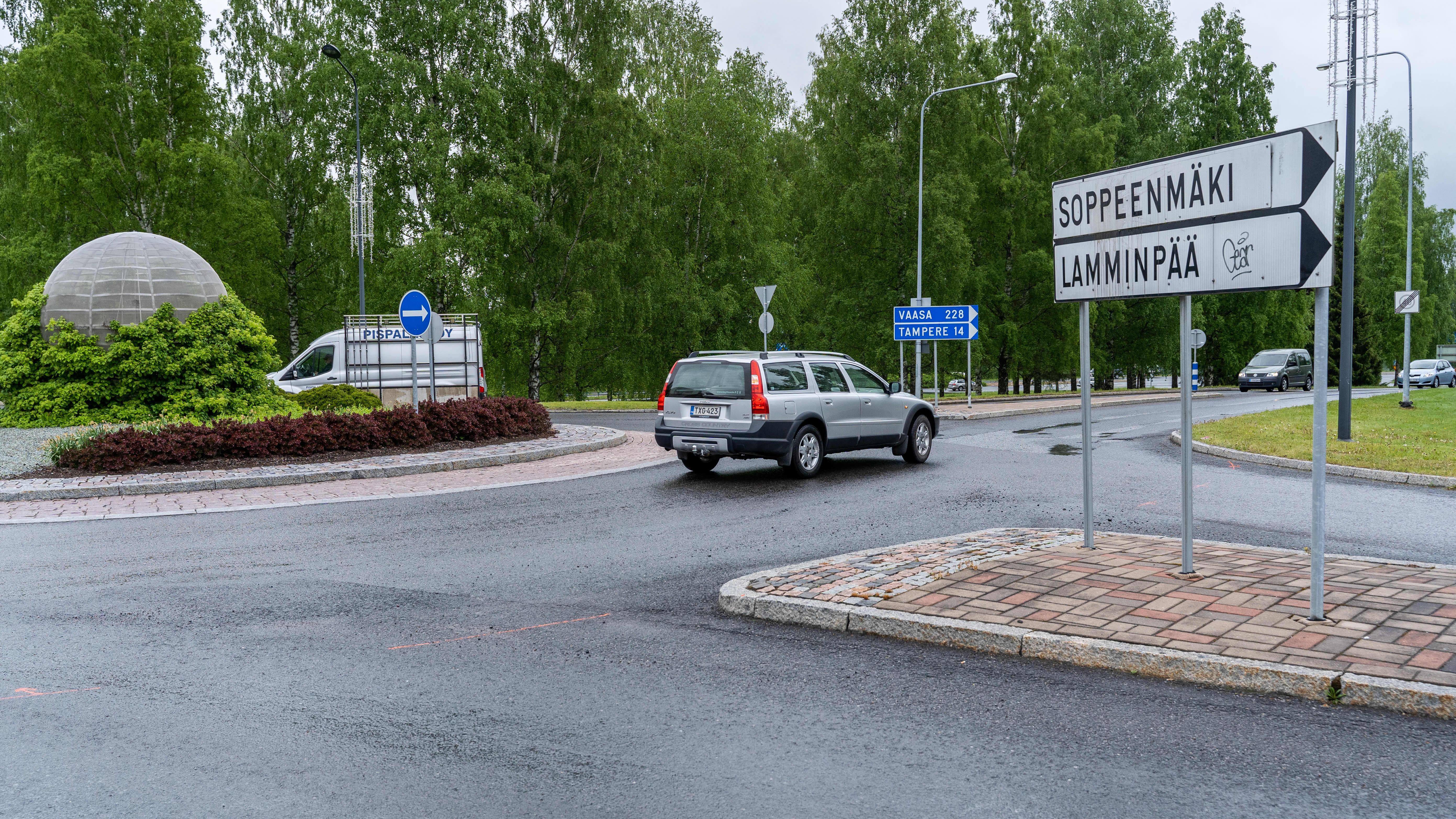 Ylöjärven keskustaa.