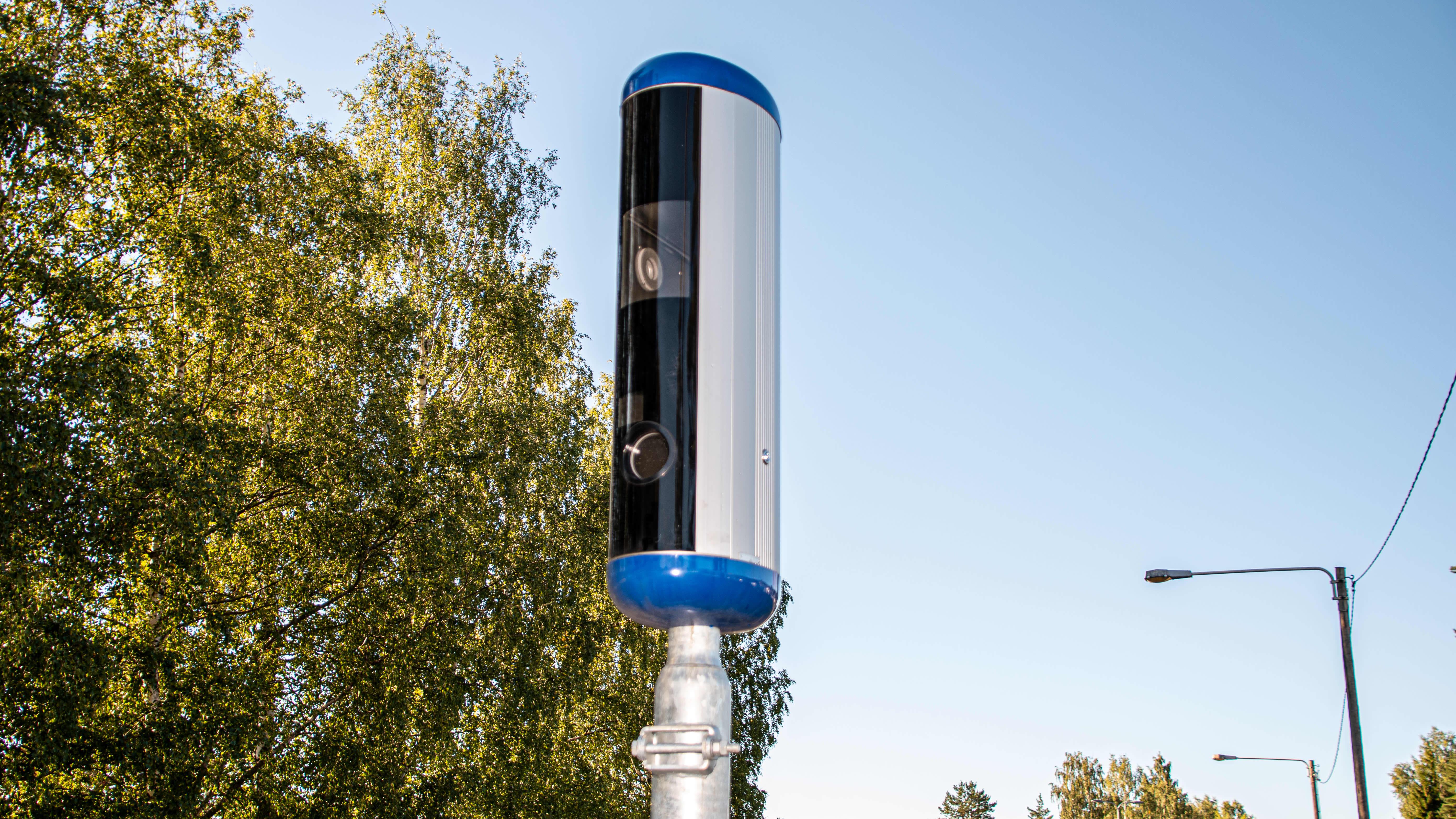 Trafisäkerhetskamera vid östra infarten i Borgå