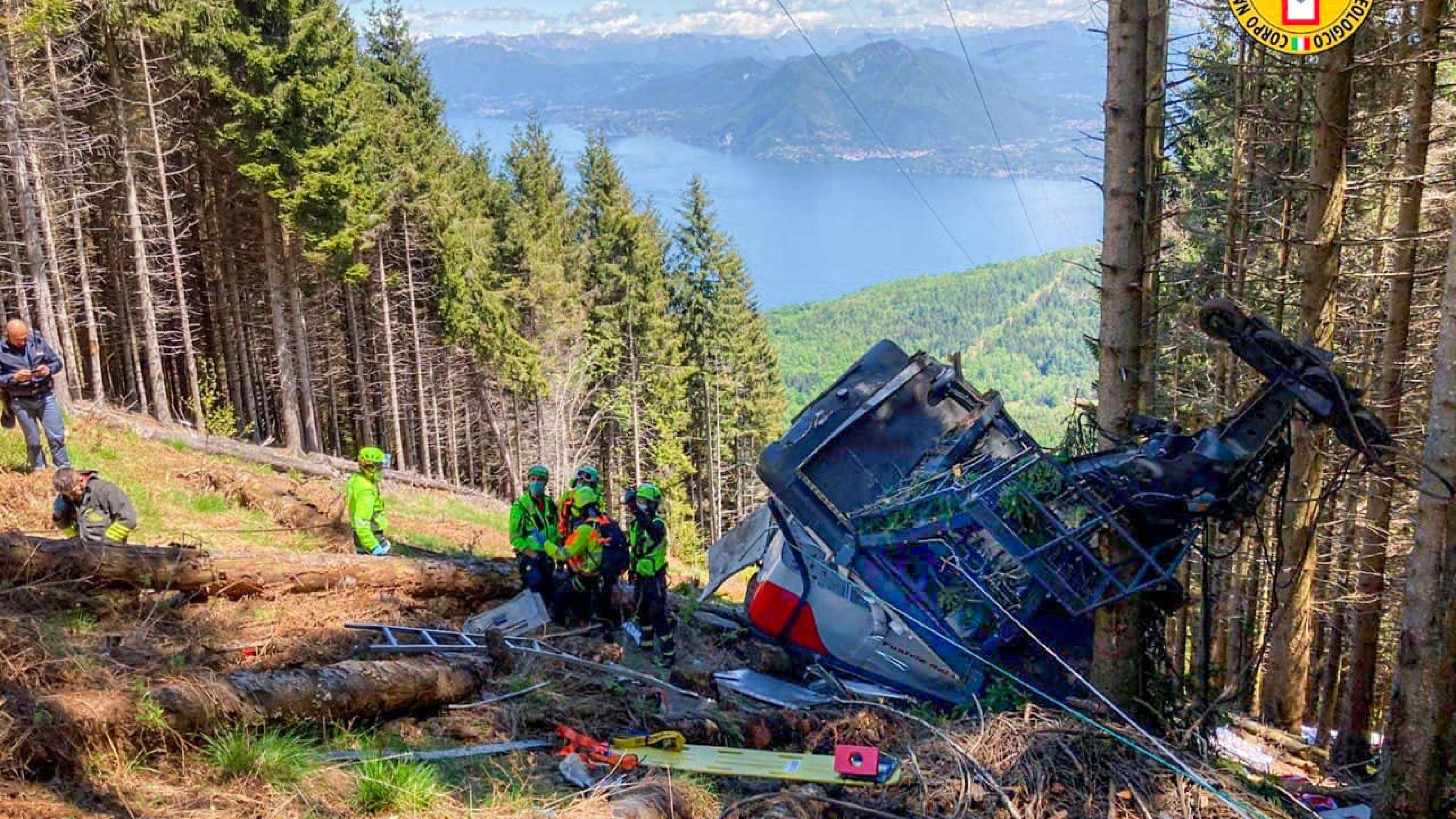 Köysiradan vaunu syöksyi maahan Pohjois-Italiassa