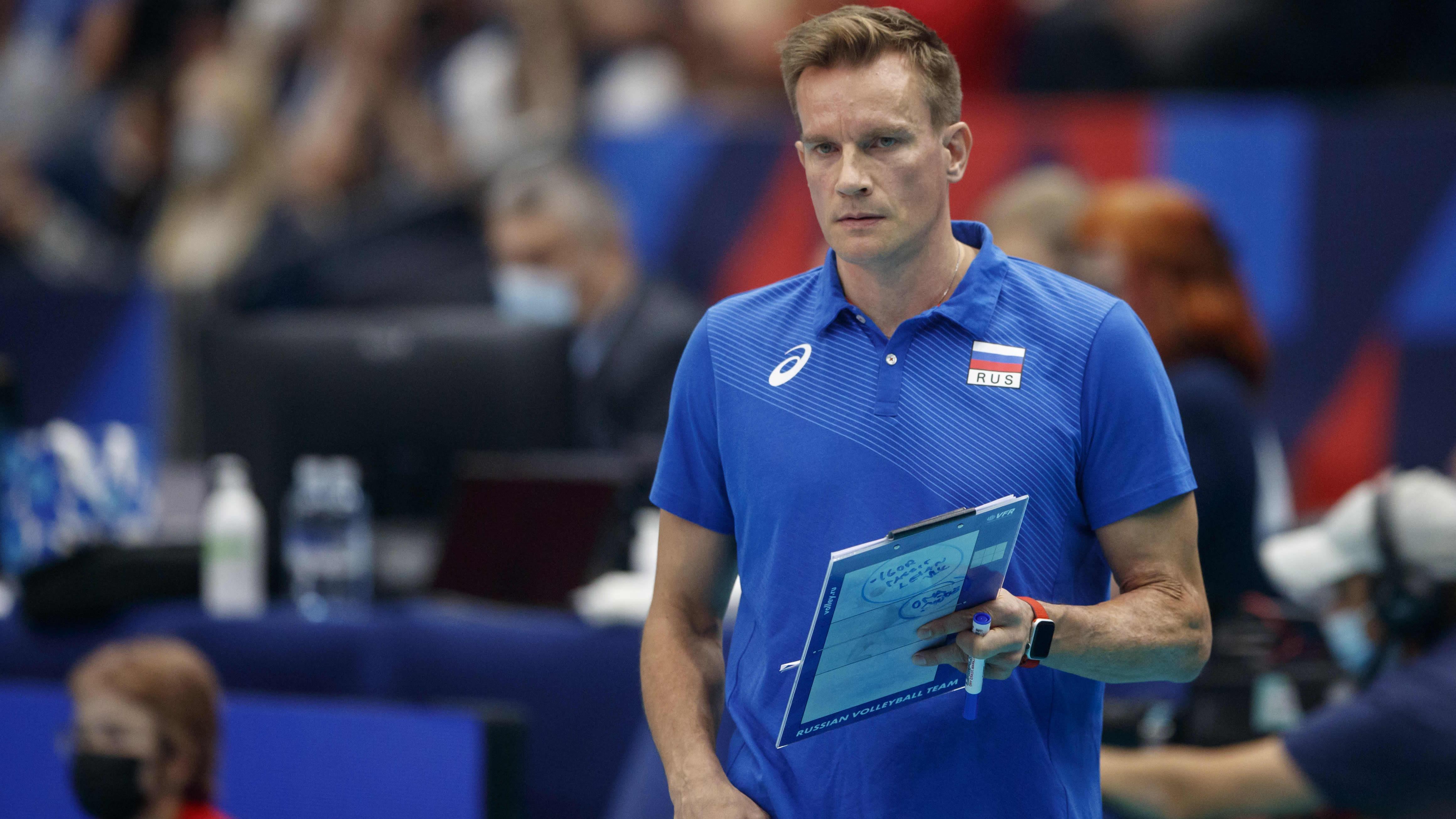 Venäjän päävalmentaja Tuomas Sammelvuo kuvattuna Tampereen EM-kisoissa.