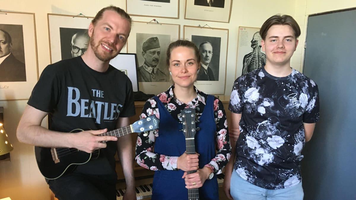 Miia Luoma, Juho Roslakka ja Anton Kiljunen