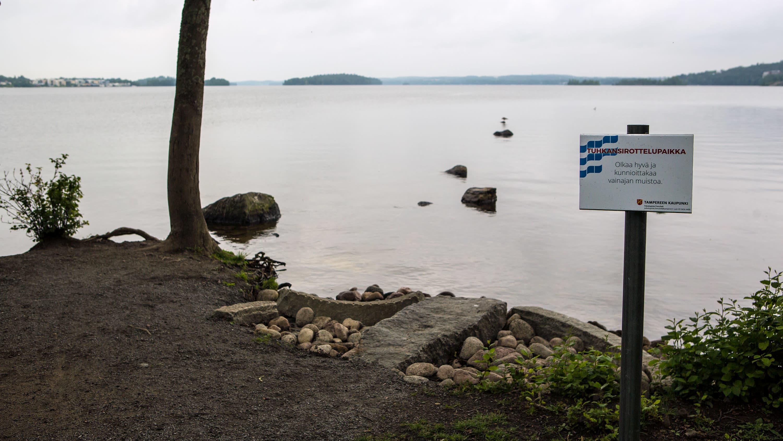 Pajaniemen alue Hatanpään Arboretumissa toimii myös tuhkansirottelupaikkana.