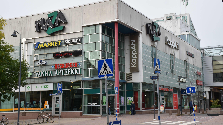 Kauppakeskus Plaza Salossa.