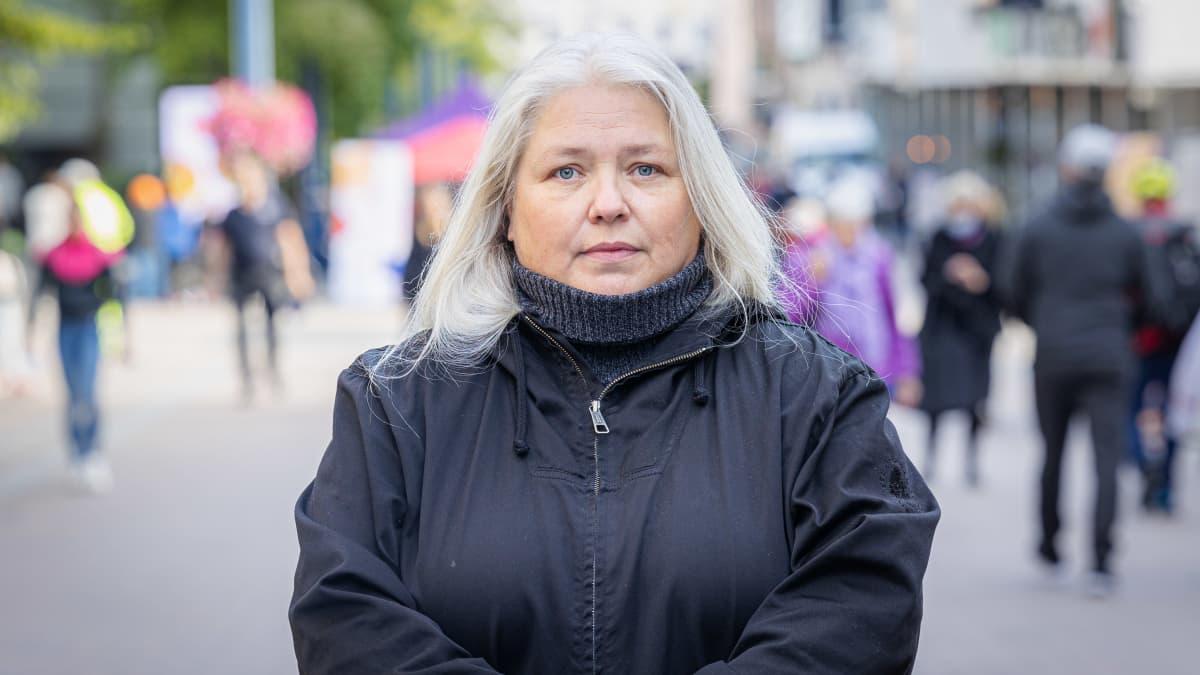 Sirpa Martins Hyvinvointia työttömille - Katutapahtumassa Jyväskylässä