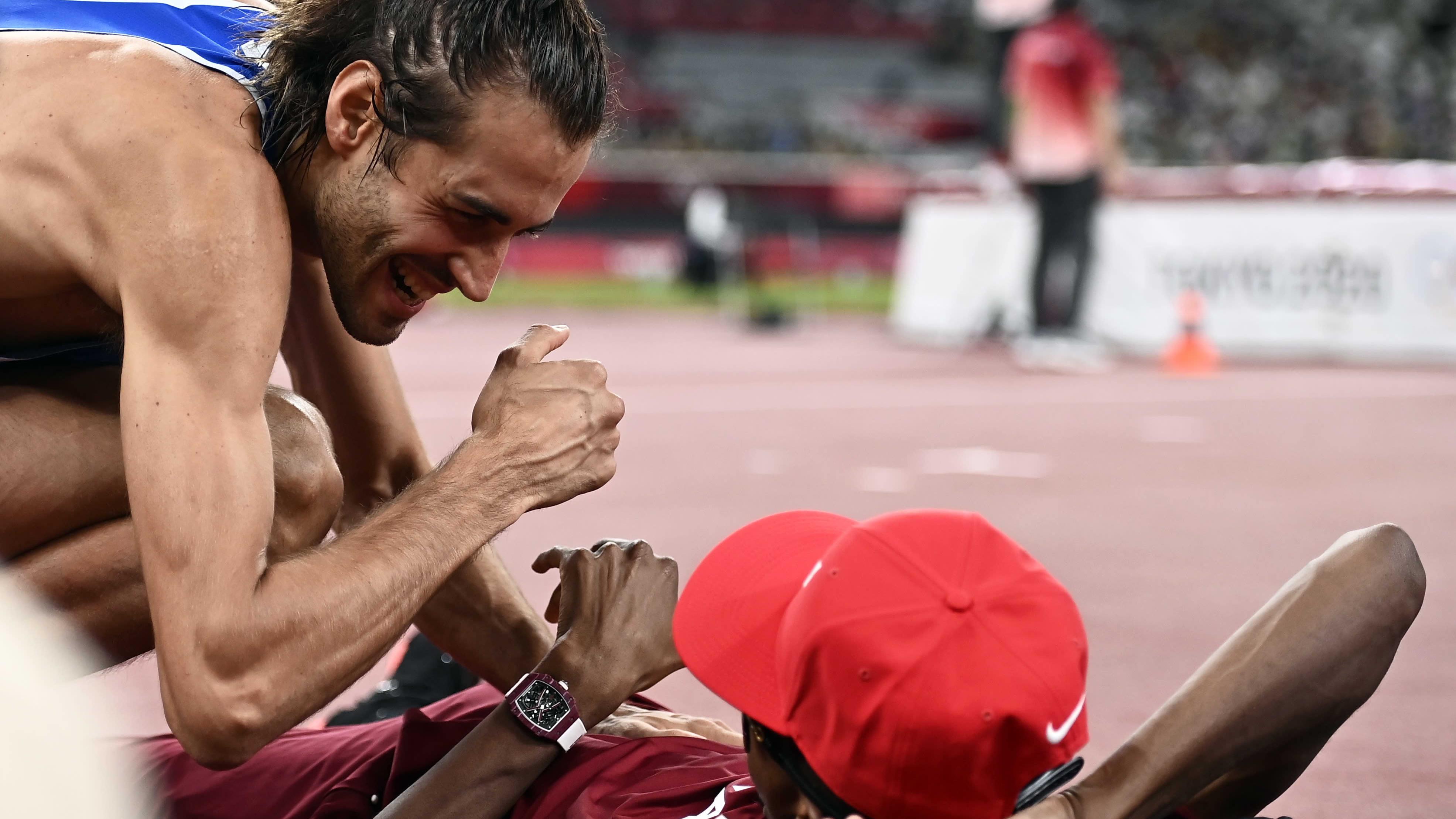 Gianmarco Tamberi ja Mutaz Essa Barshim jakoivat olympiavoiton