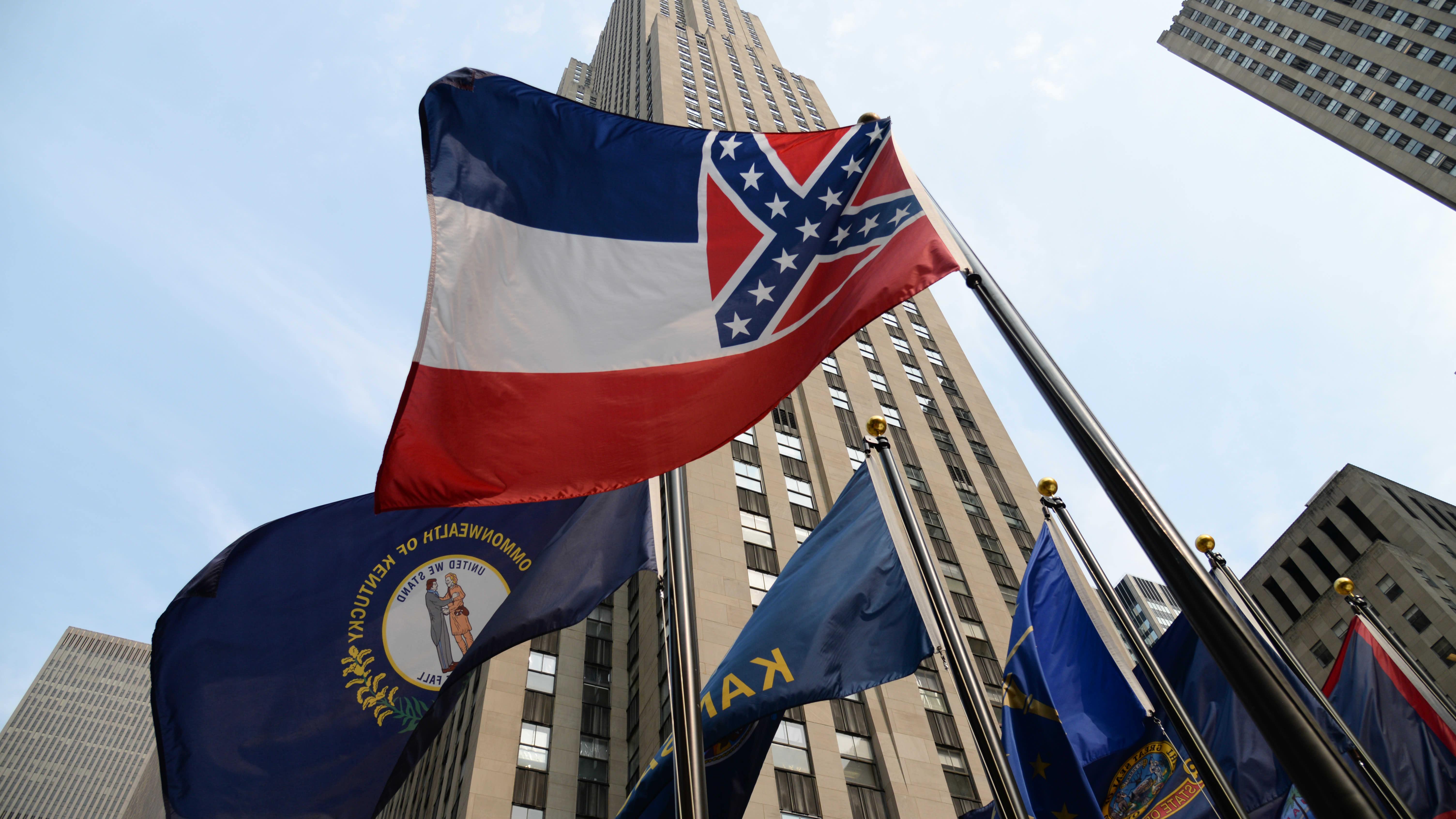 Arkistokuva Mississippin osavaltion lipusta vuodelta 2015.