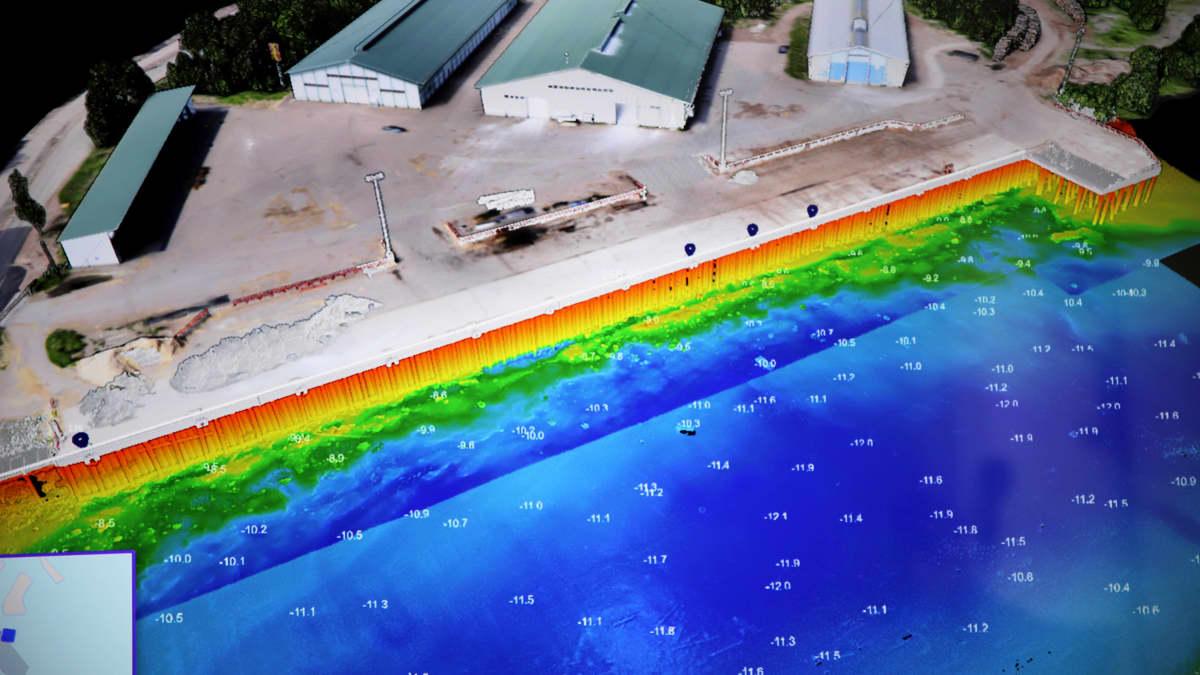 Satamat tavoittelevat tehokkuutta digitaalisilla työkaluilla – nyt halutaan katsoa jo veden alle