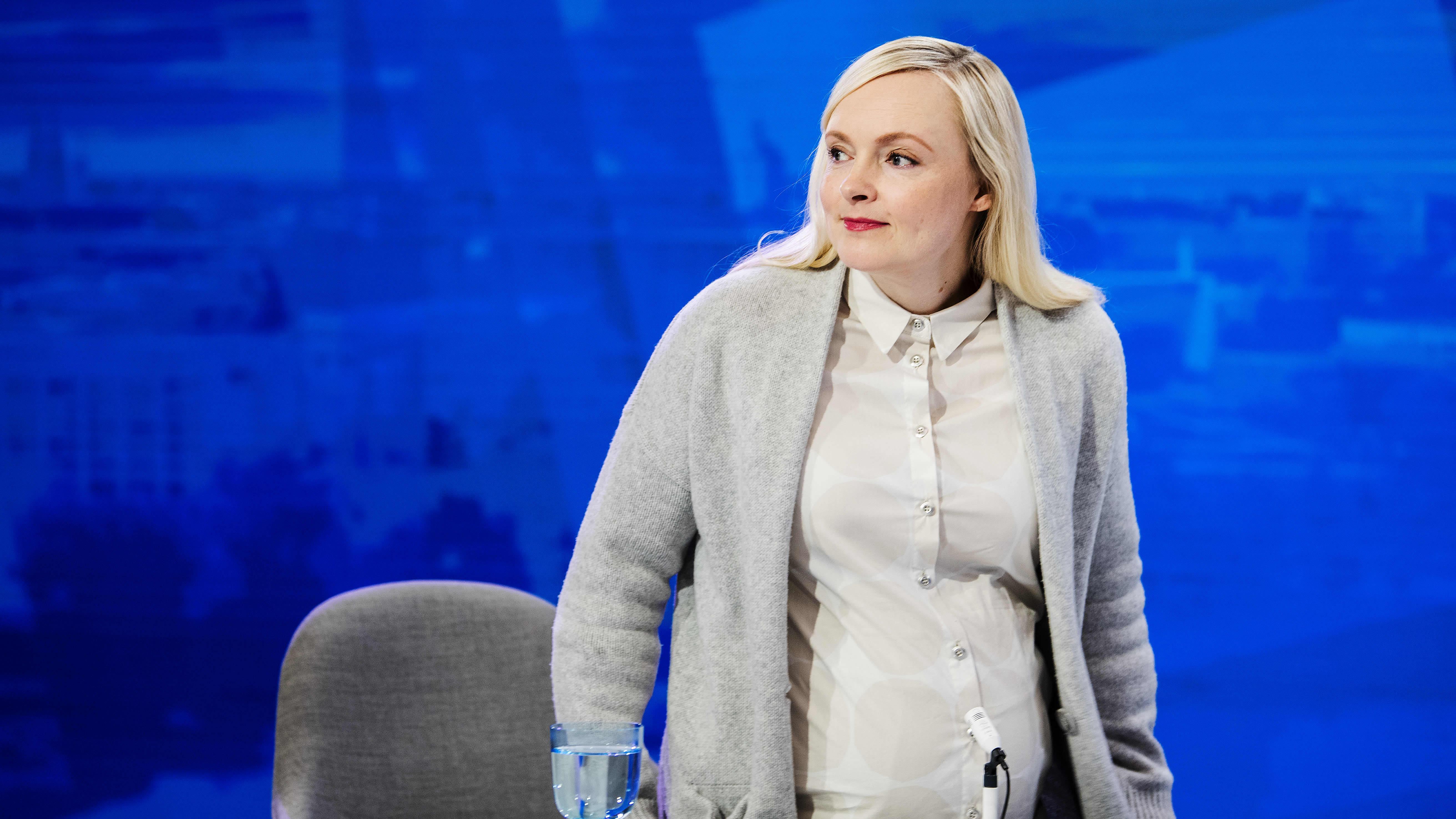 Vihreiden puheenjohtaja Maria Ohisalo vieraili Pasilassa Ylen Ykkösaamussa 23. lokakuuta.