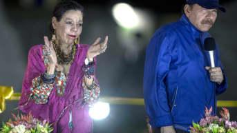 Varapresidentti Rosario Murillo ja hänen miehensä, presidentti Daniel Ortega maaliskuussa 2019.