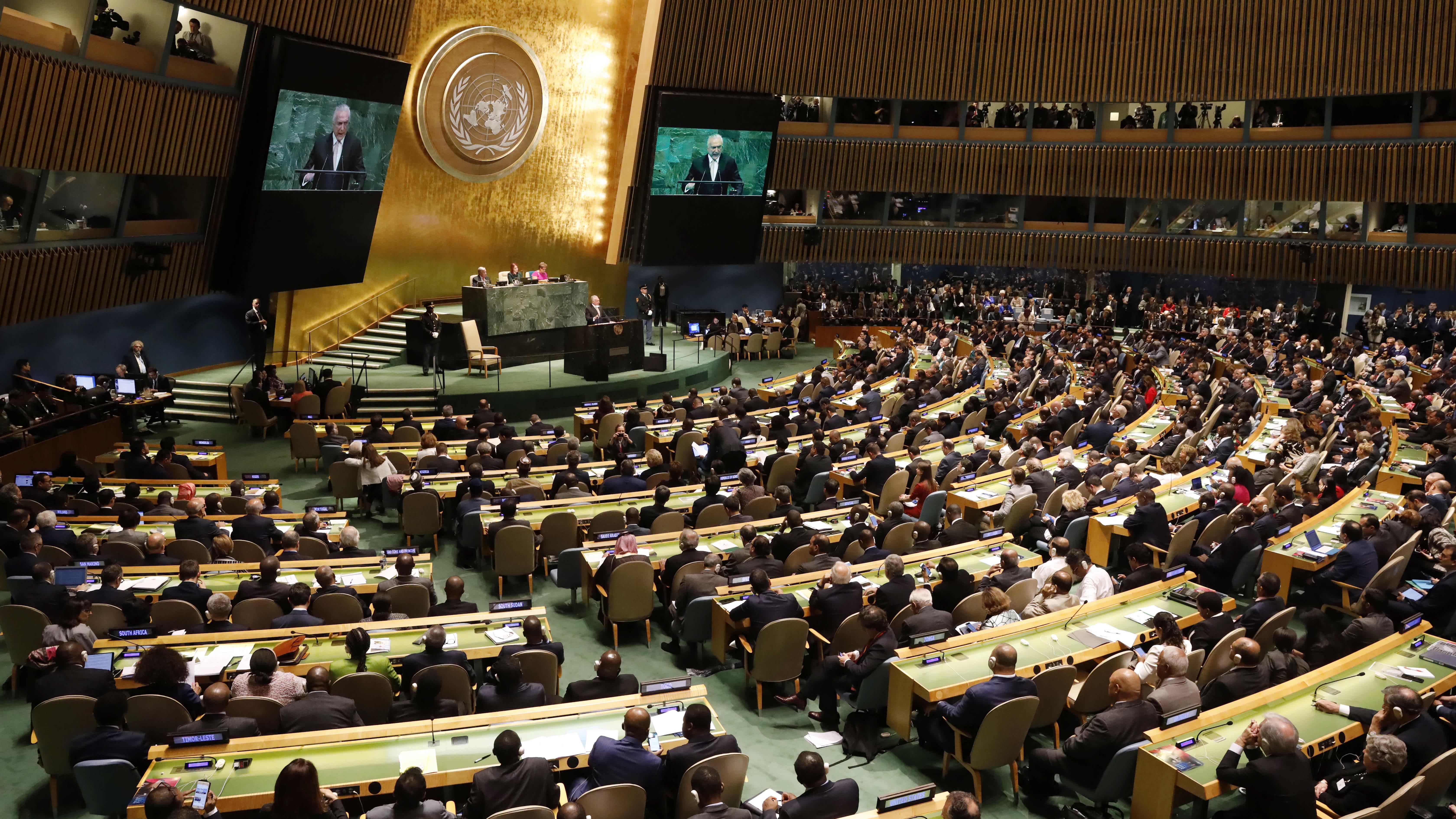 YK:n yleiskokous alkaa