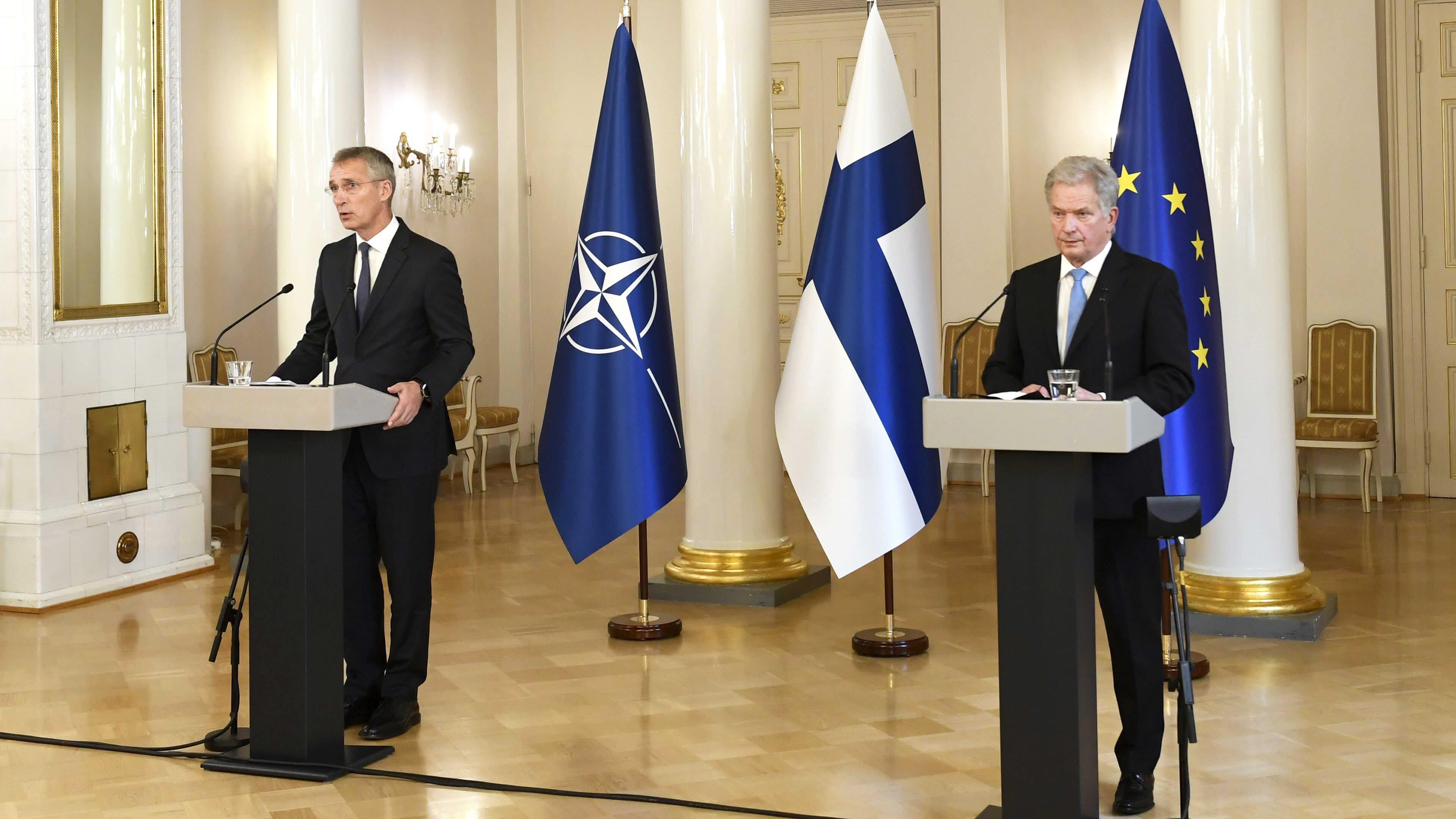 Tasavallan presidentin Sauli Niinistön ja Naton pääsihteerin Jens Stoltenbergin yhteinen lehdistötilaisuus