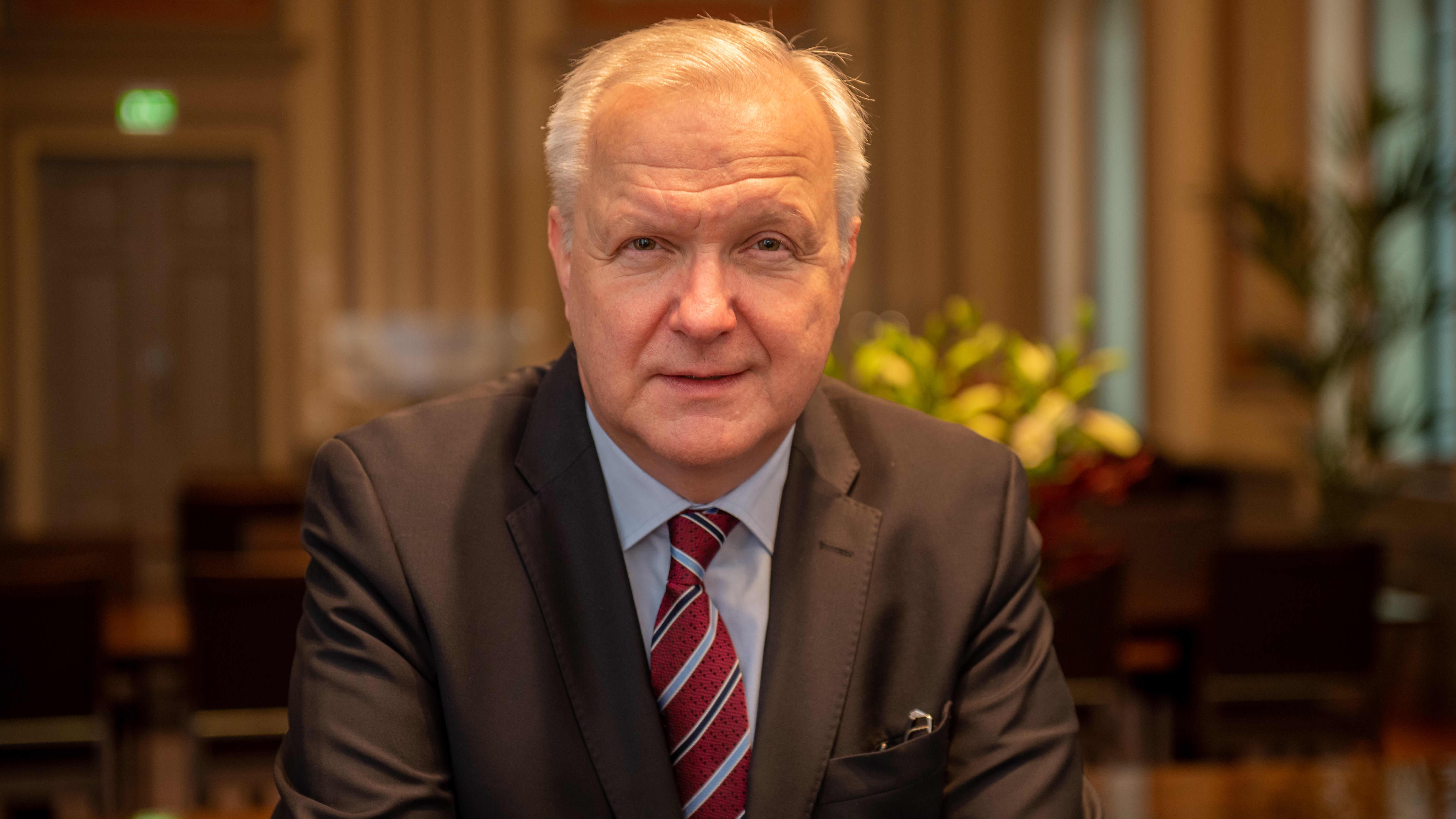 Olli Rehn Suomen Pankissa.