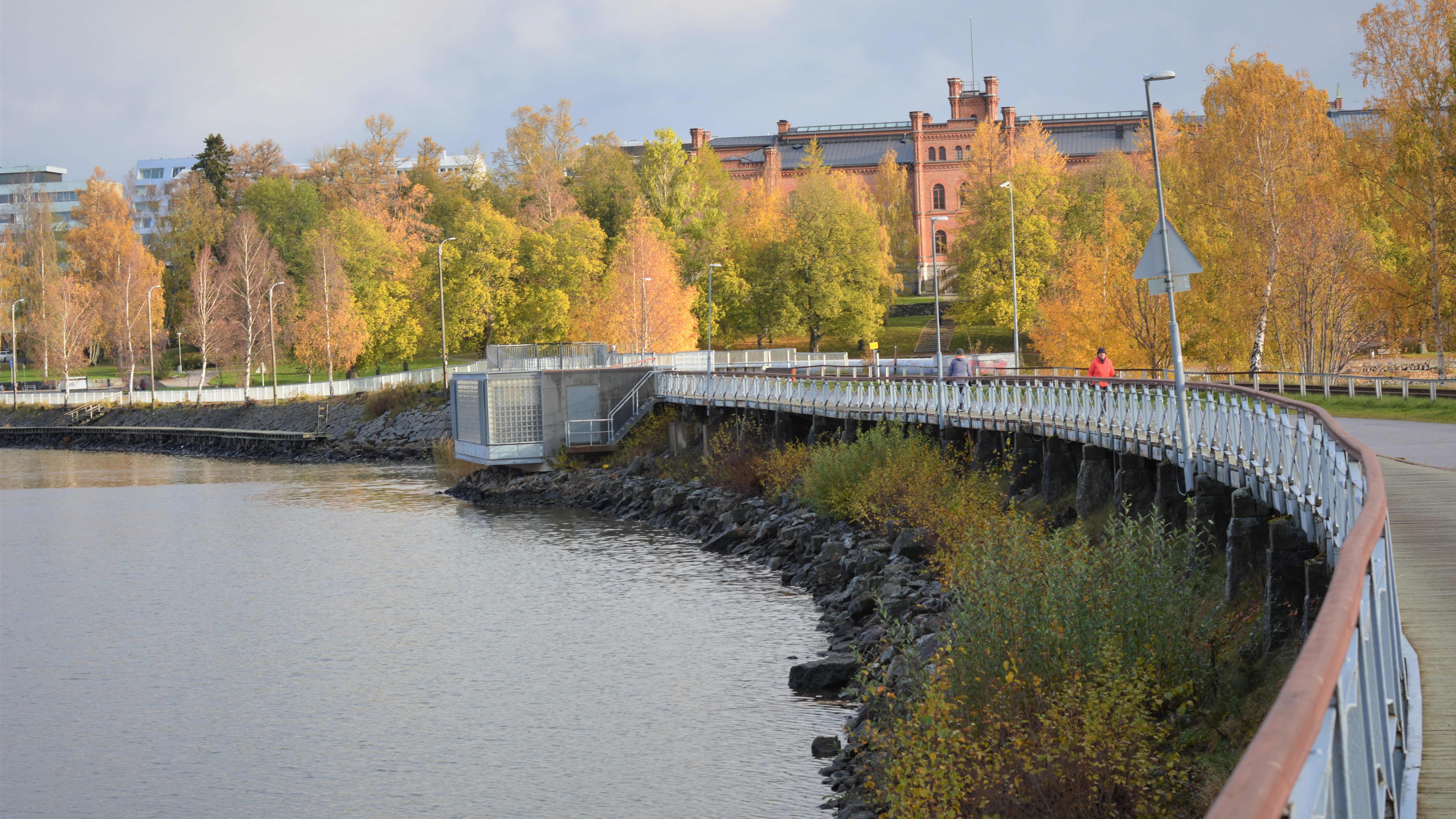 Vy över Vasa sett från Sandö.