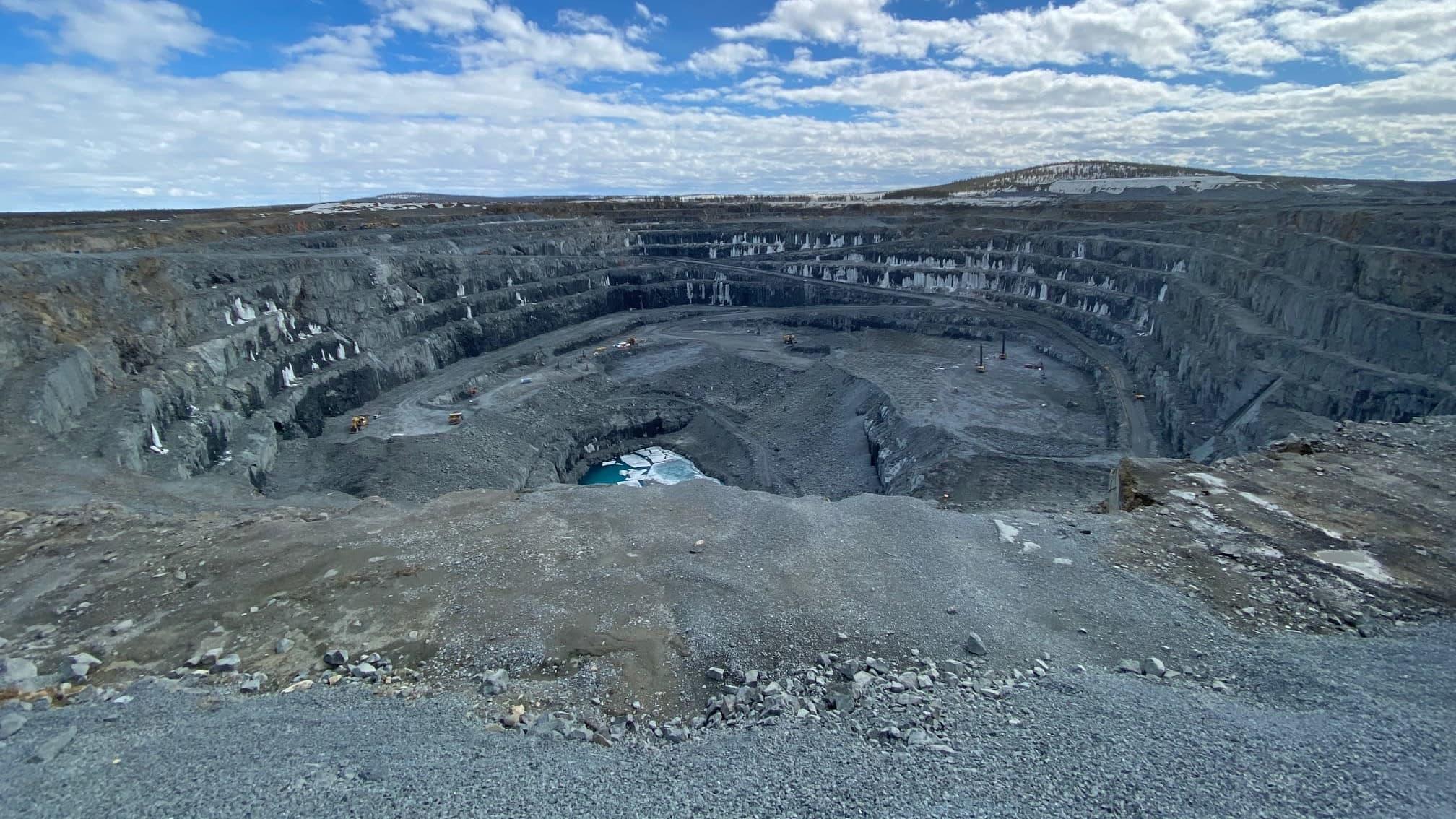 Boliden Kevitsan kaivoksen avolouhokses Sodankylässä