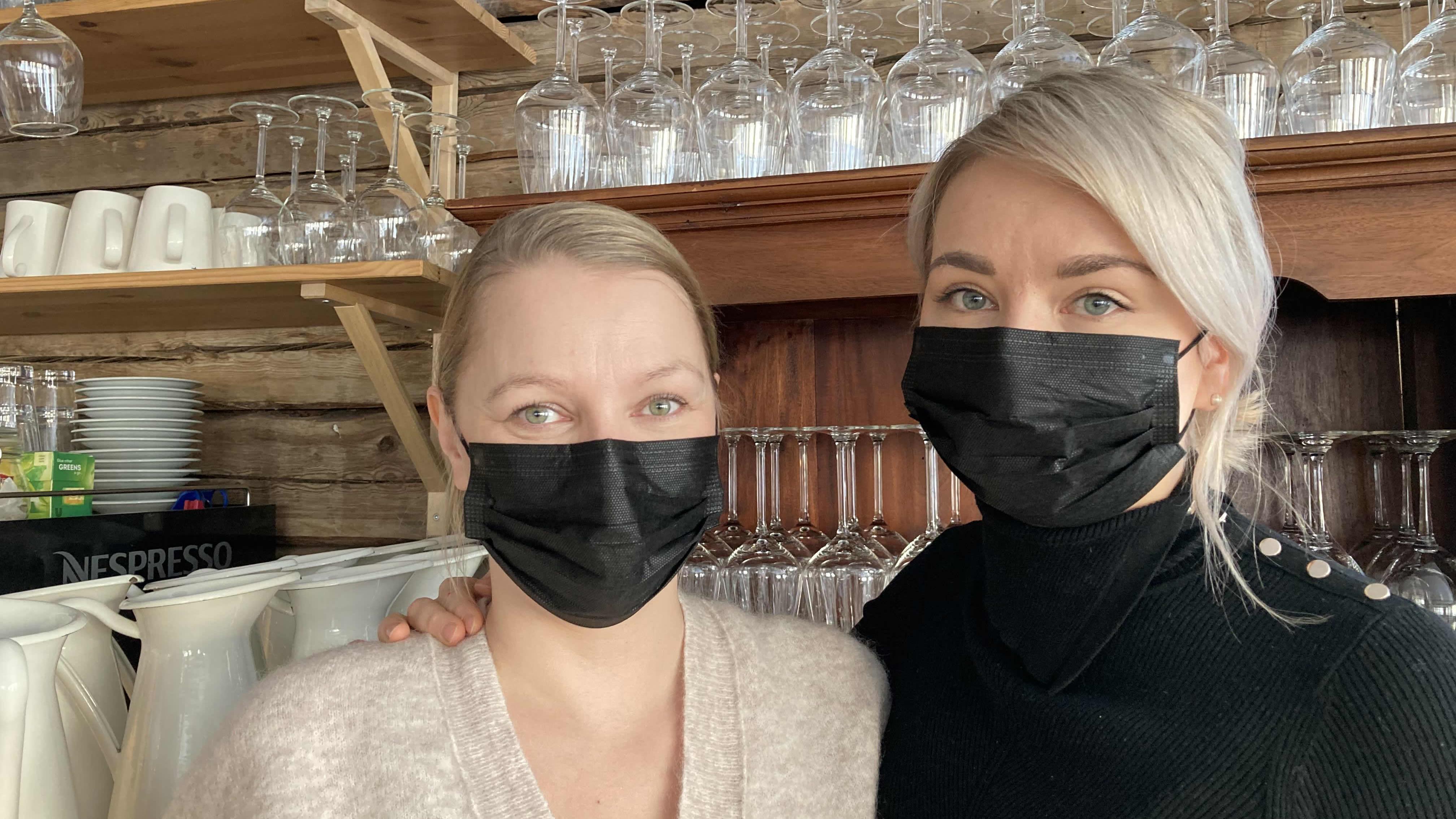 Aurora Estaten yrittäjät Heidi Seikkula ja Sirly Ylläsjärvi