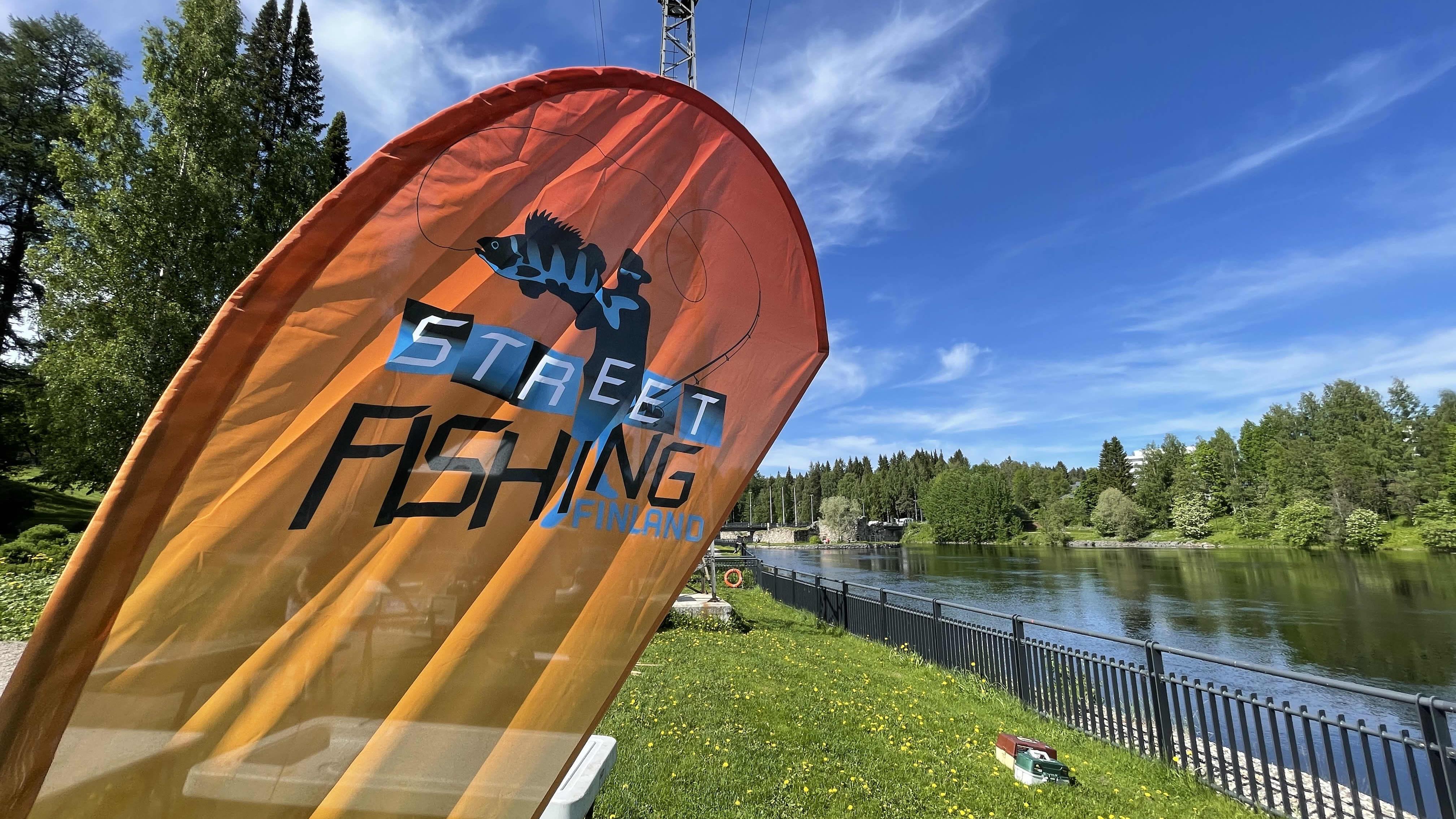 Street fishing lippu kajaanijoella
