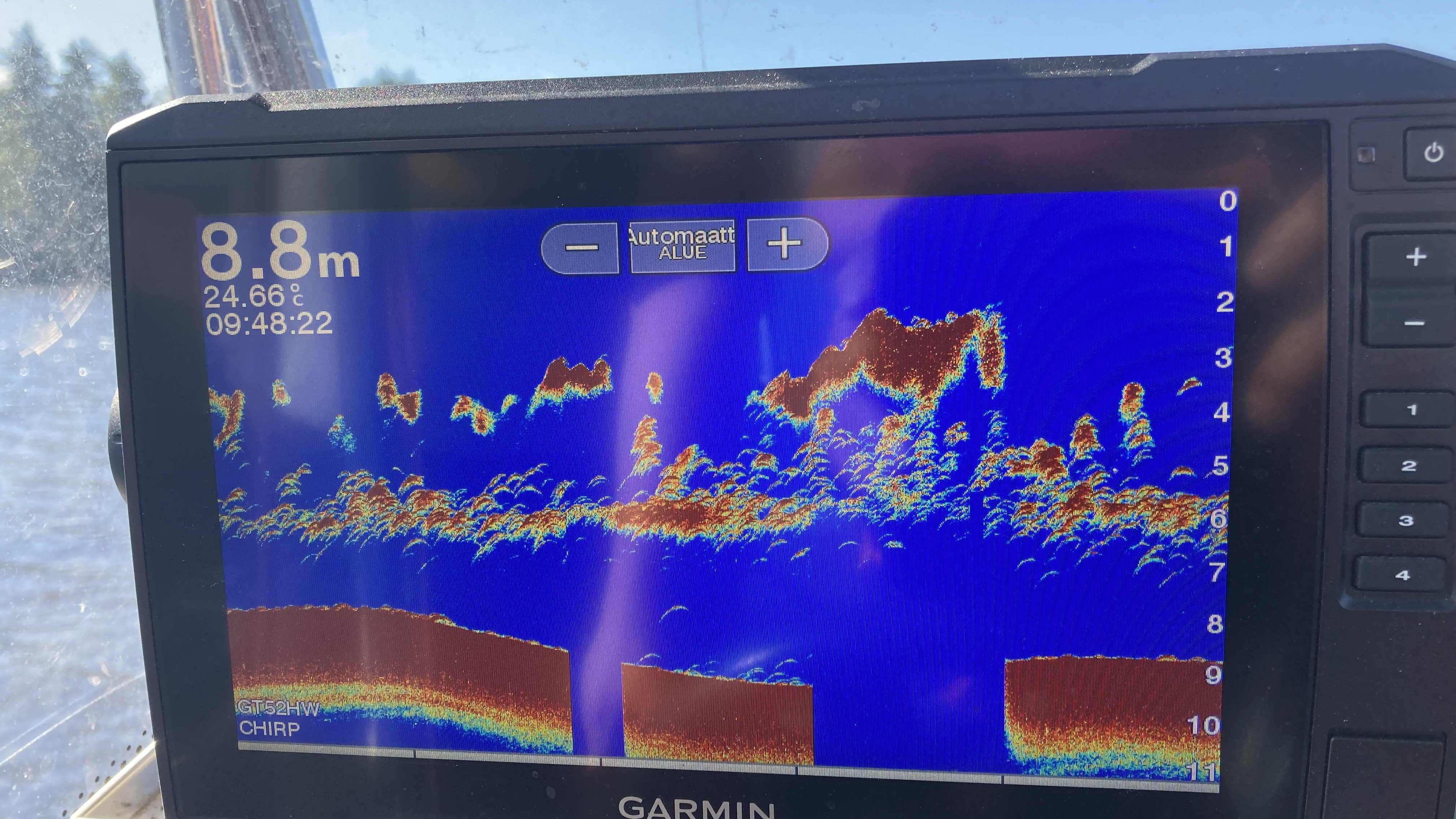 Kaikuluotain kuvaa Pohjois-Puulan kalakannasta.