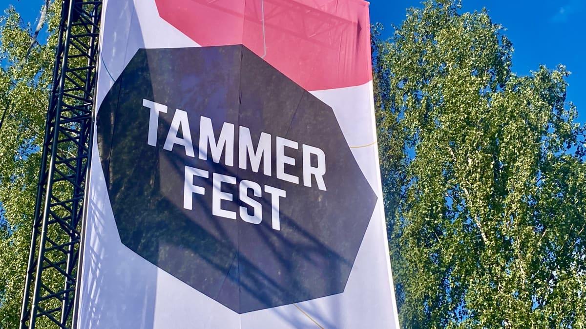 Tammerfestin päälava festivaalin edellä keskiviikkona 21.7.2021.