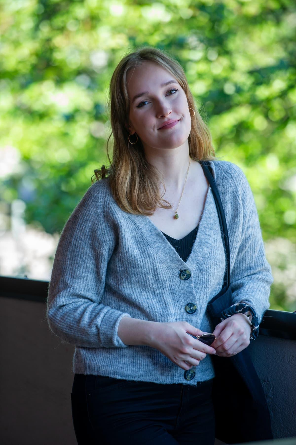 Ensimmäistä kertaa oman alan töissä opiskelija Maria Filippenkova.