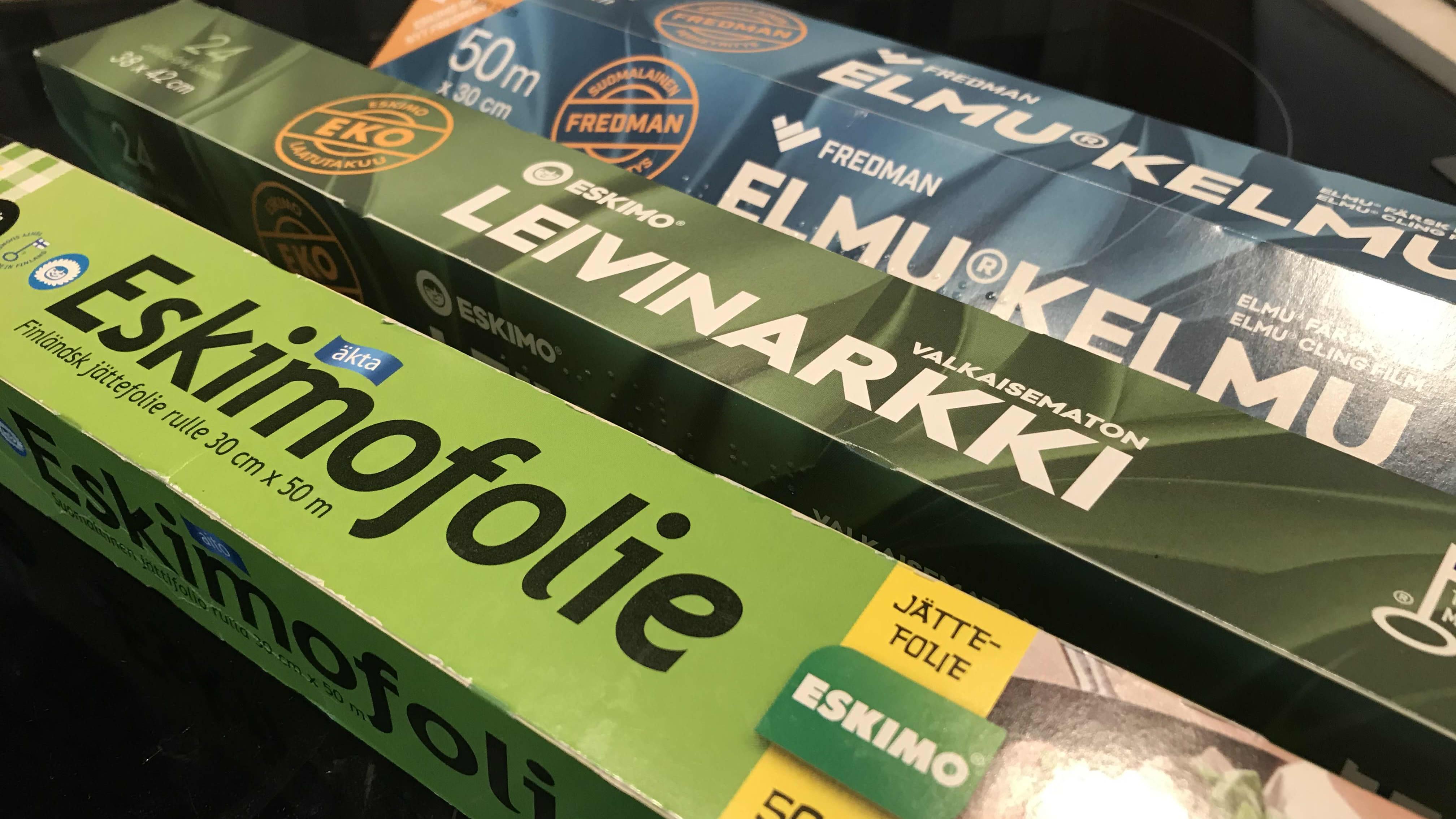 Fredman-groupin tuotteita, Elmu-kelmu, Eskimofolio, leivinarkki