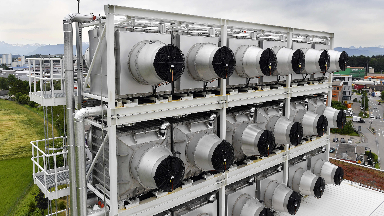 Climeworks -yhtiön hiilidioksidin talteenottolaite jätteenpolttolaitoksella