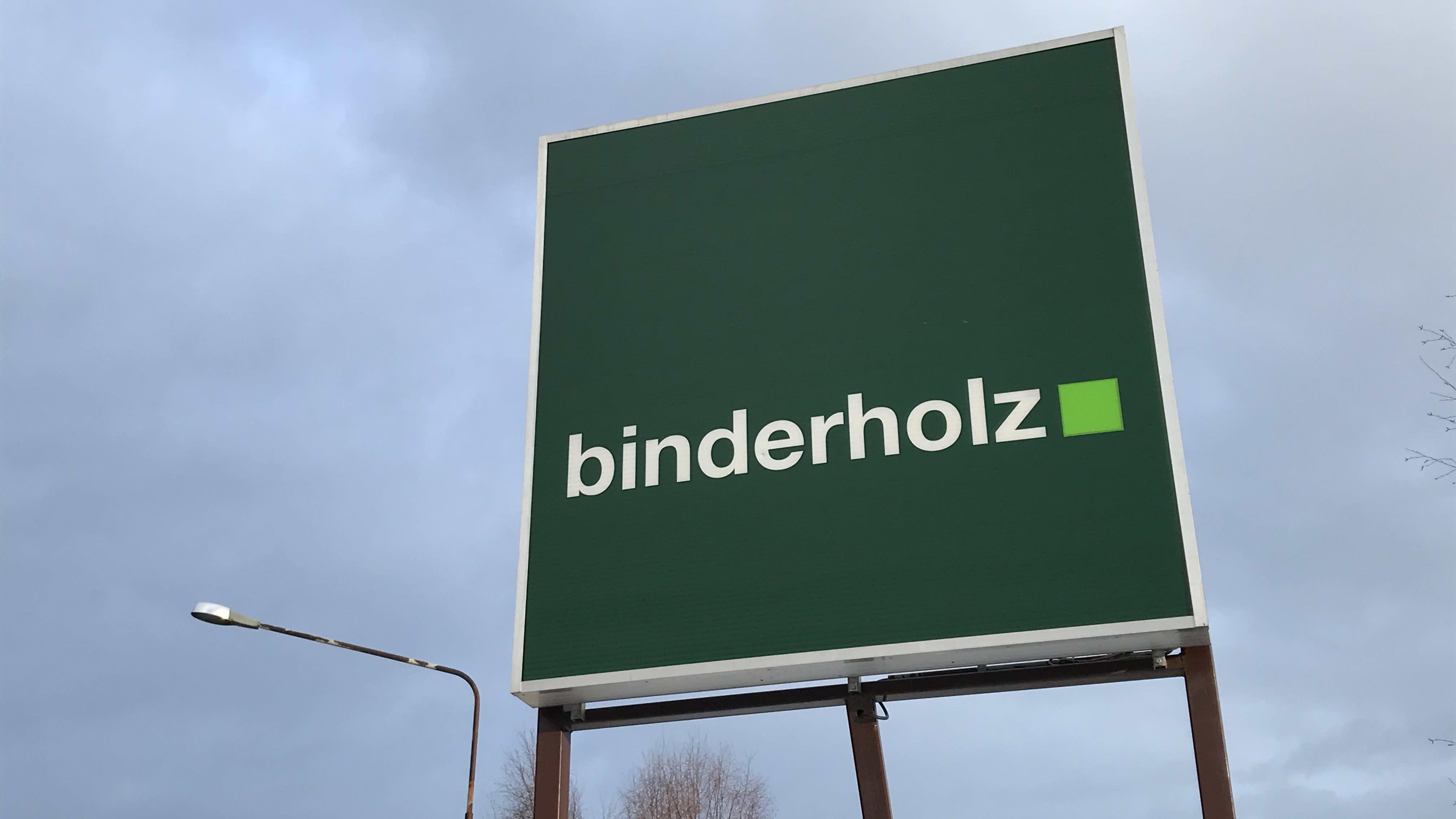 Binderholzin sahan kyltti Nurmeksessa.