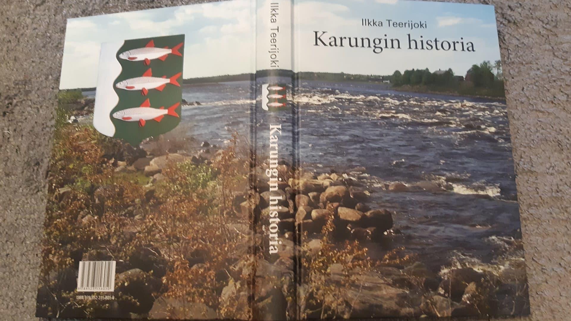 Karungin historiasta kertovan kirjan kannessa on kuva Matkakoskesta. Takakannessa on myös Karungin kunnan vaakuna.