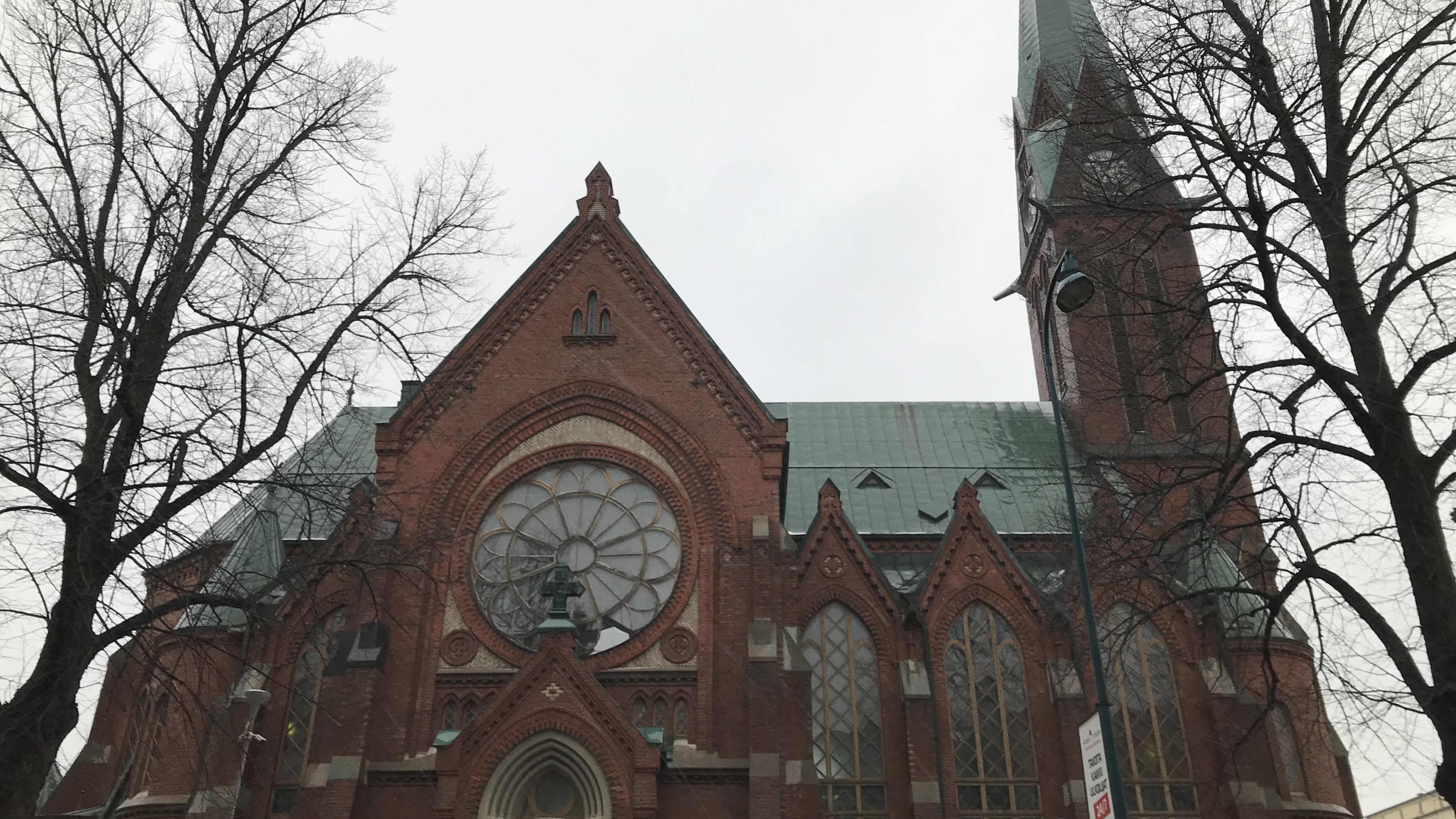 kotkan kirkko ulkoa päin