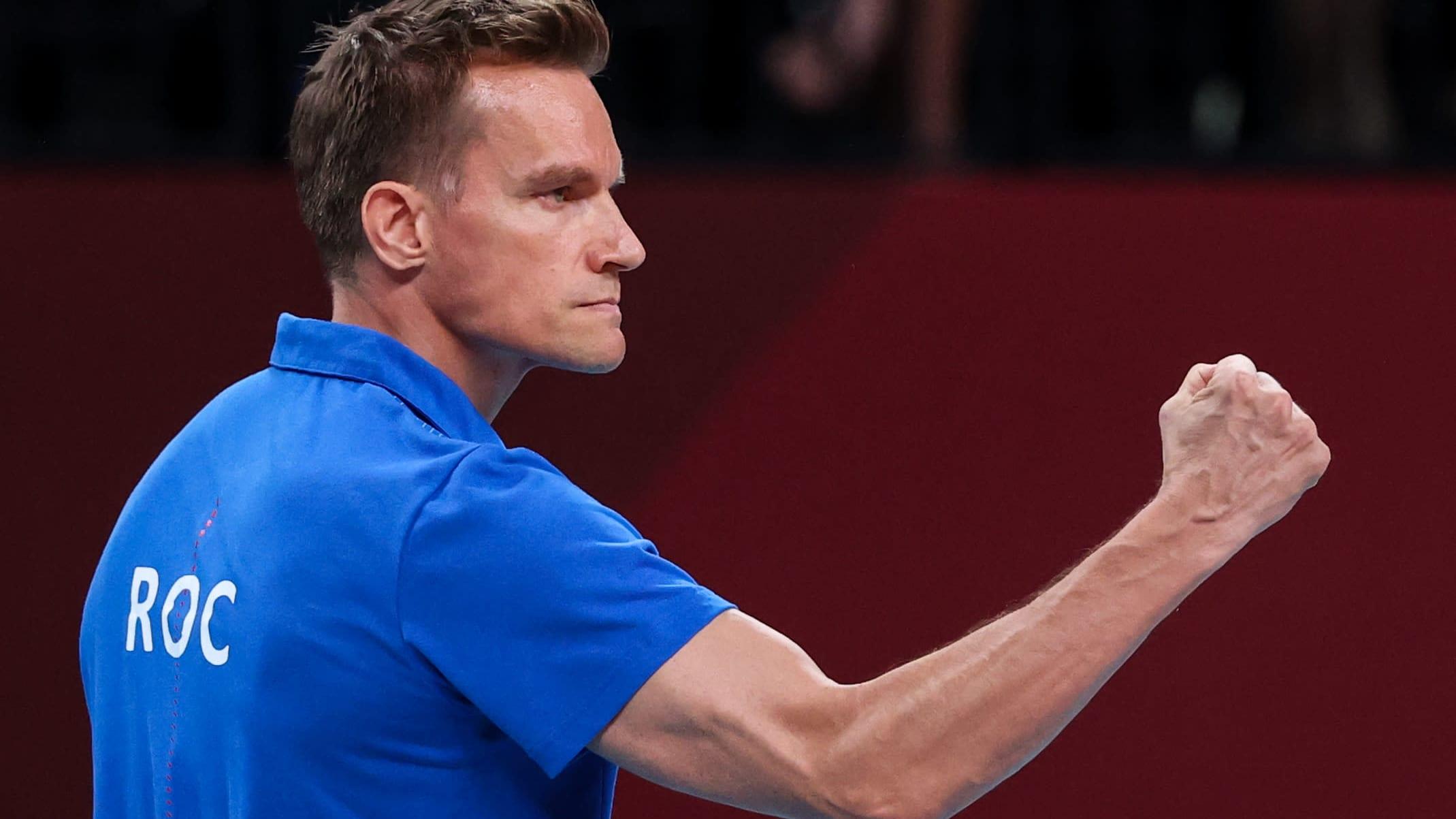 ROC:n päävalmentaja Tuomas Sammelvuo olympiakisoissa.