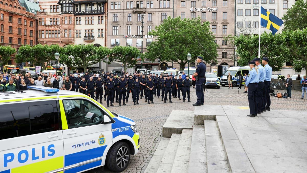 Poliisimurhasta epäilty pidätetty Ruotsissa