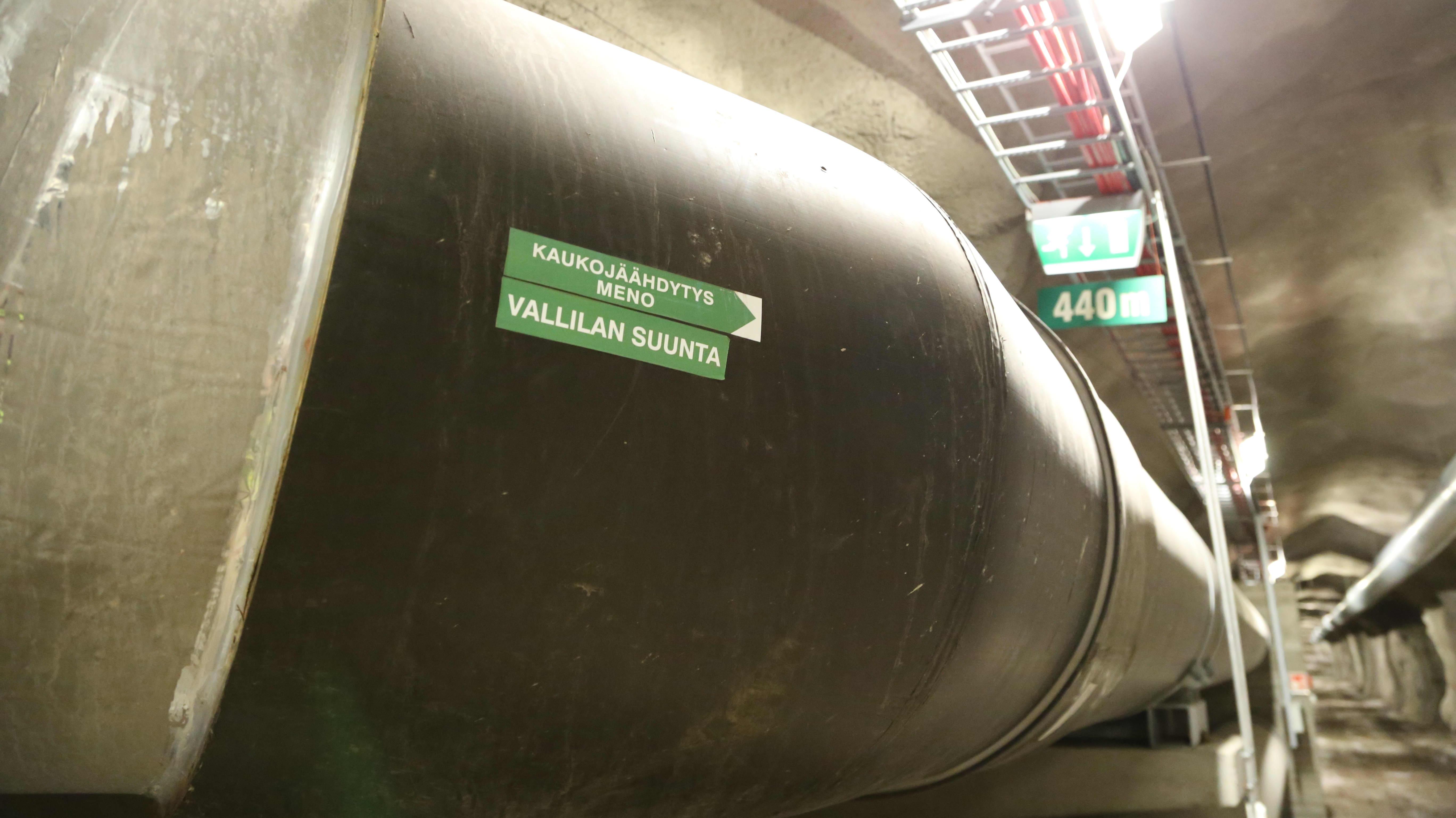 Helens servicetunnel för fjärrkyla.