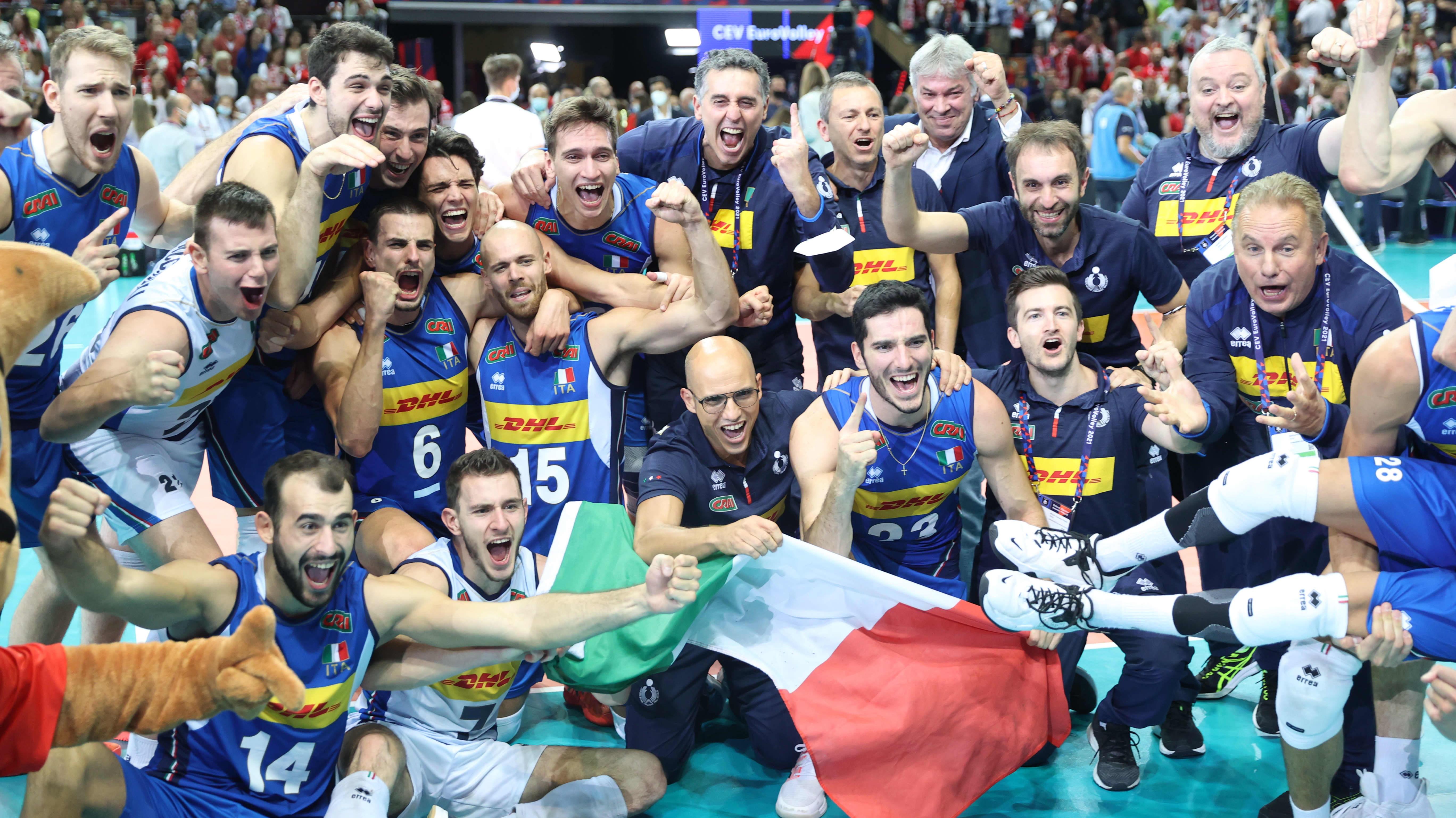 Italialle lentopallon EM-kultaa