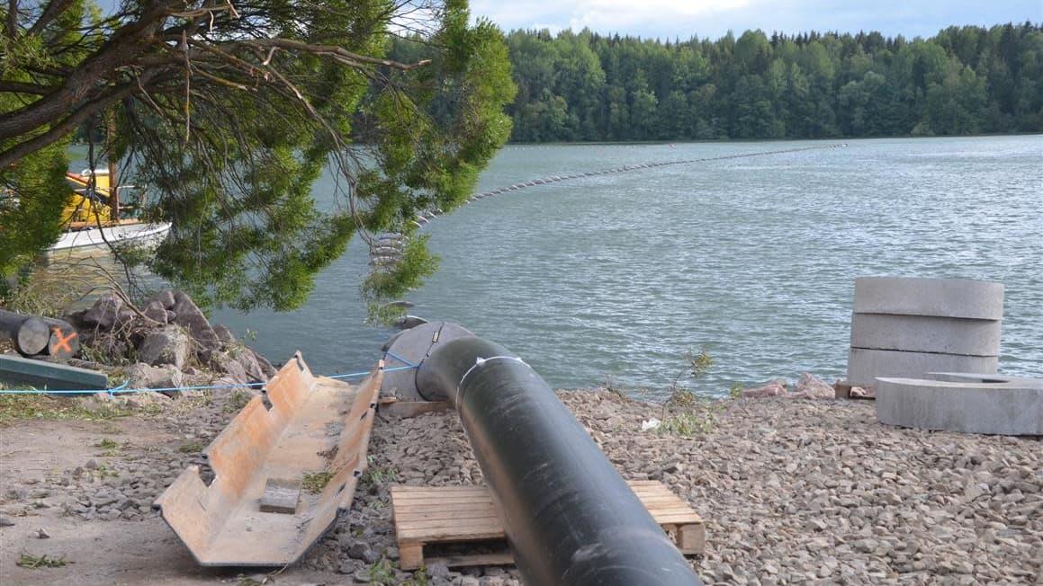 Imatran Mellonlahden vedenlaatua parannetaan sekoittamalla sitä Vuoksen veteen.