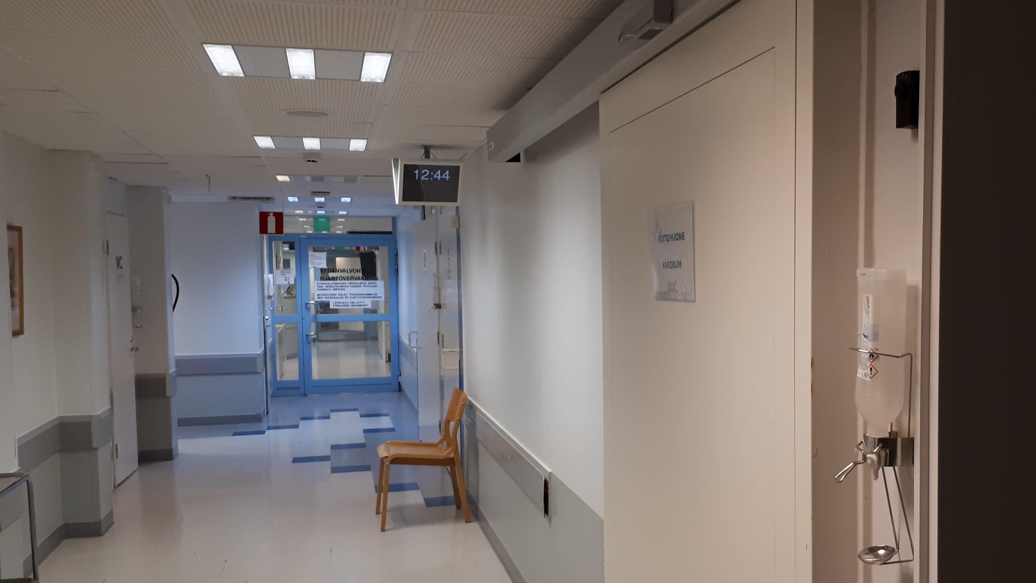 Mellersta Österbottens centralsjukhus i Karleby. Keski-Pohjanmaan Keskussairaala